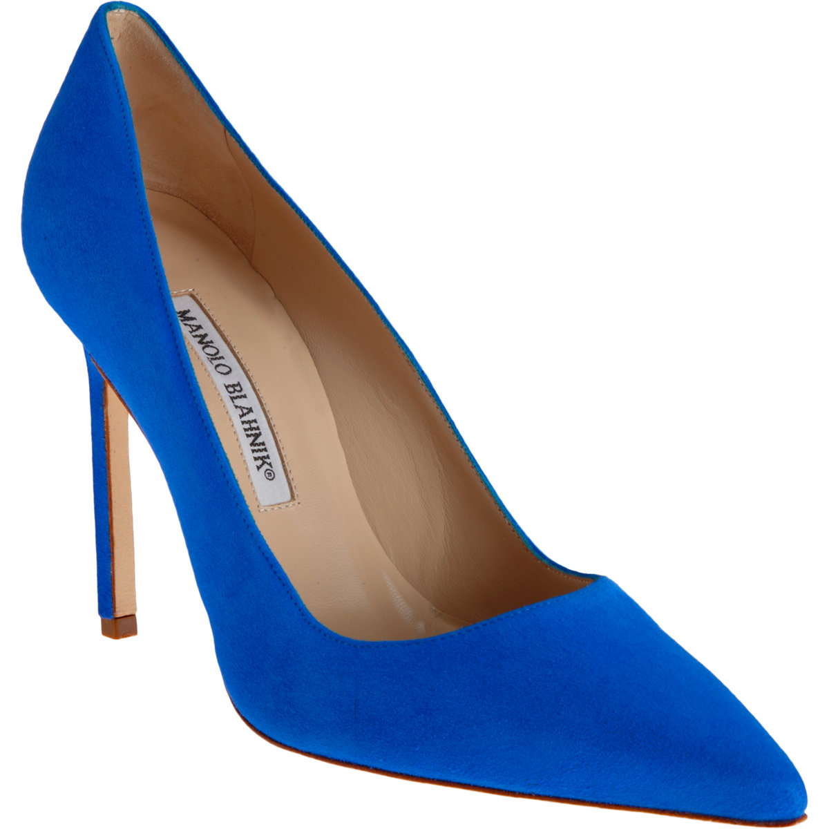Lyst manolo blahnik bb pumps in purple for Who is manolo blahnik