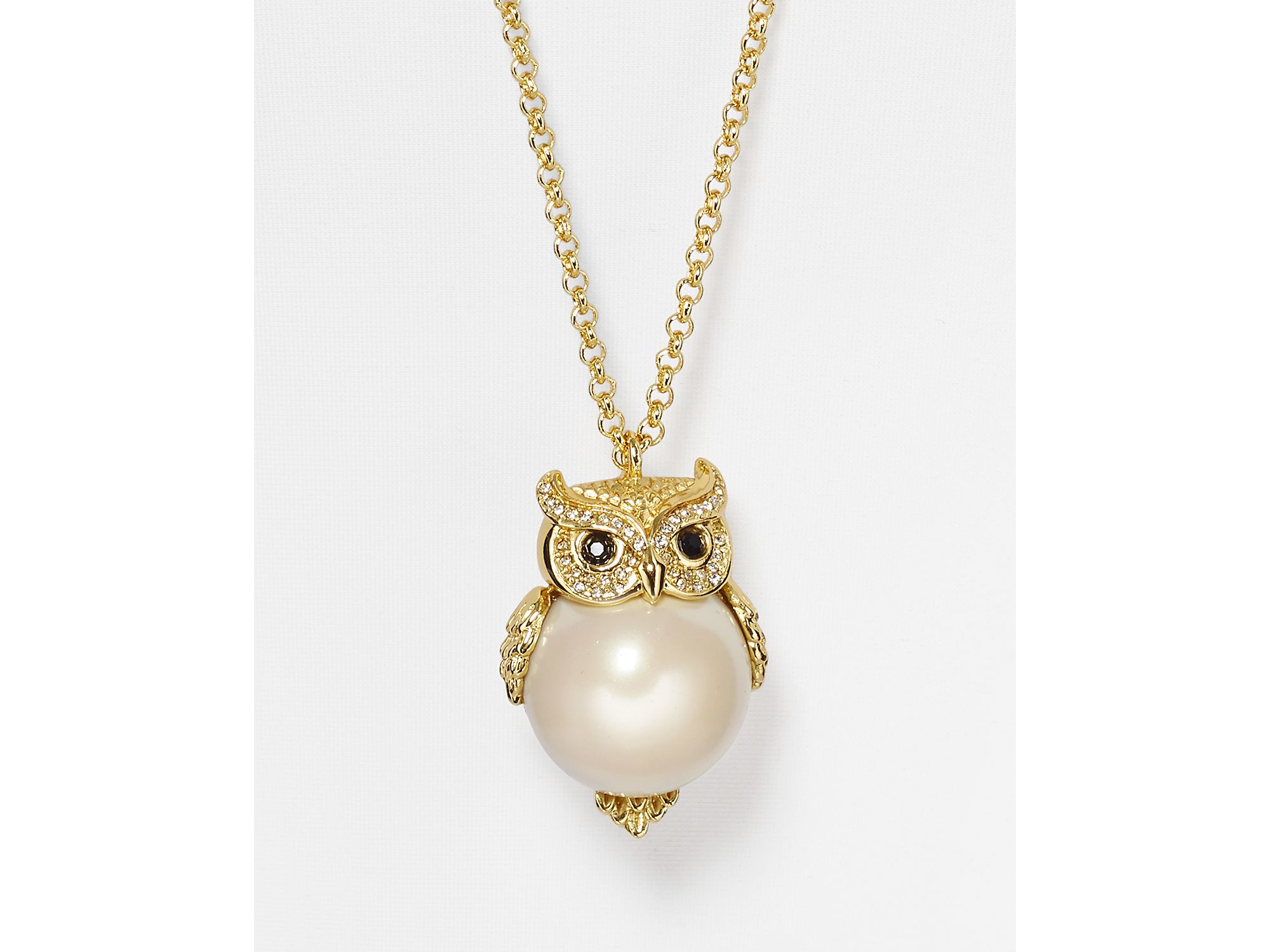 crystaluxe pendant with swarovski jewelry sterling silver in crystals owl