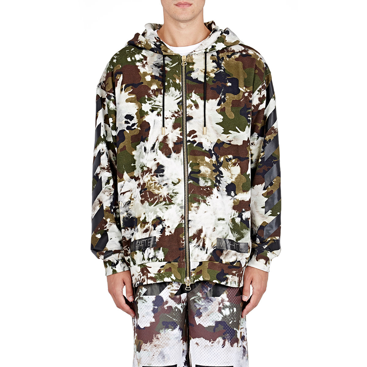 Lyst Off White Co Virgil Abloh Mens Camouflage Zip Front Hoodie
