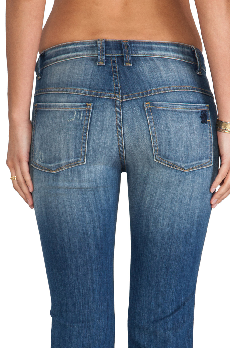 Frankie b. jeans Carly Hi Rise Wide Leg in Blue | Lyst