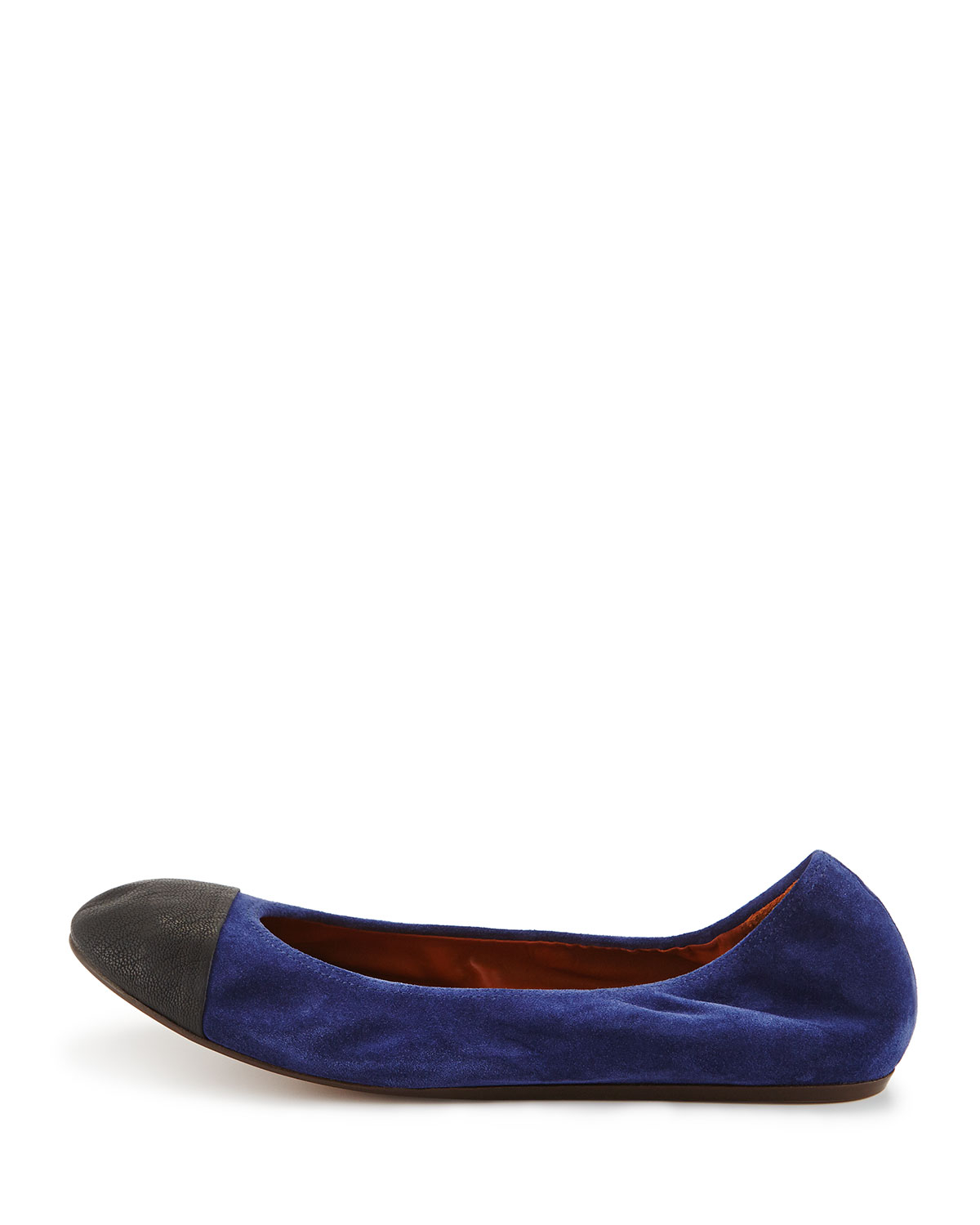 lowest price from china for sale Lanvin Suede Round-Toe Ballet Flats extremely for sale cheap best sFcsT