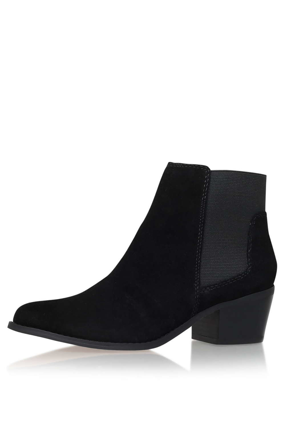 Topshop Black Low Heel Ankle Boots By Miss Kg In Black Lyst