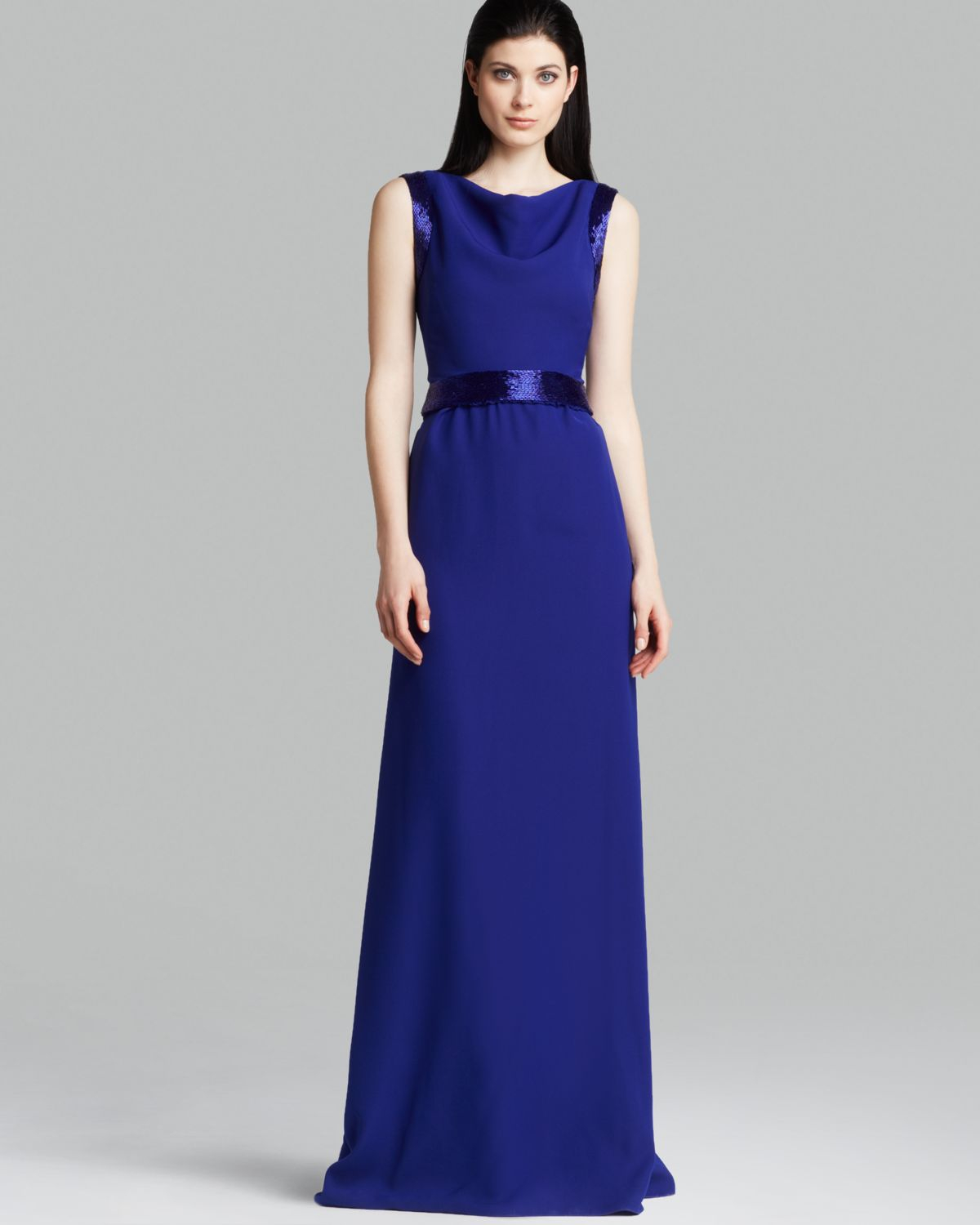 Lyst - Armani Gown - Sleeveless Beaded in Blue