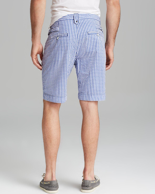 Robert graham Forgione Gingham Seersucker Shorts in Blue for Men ...
