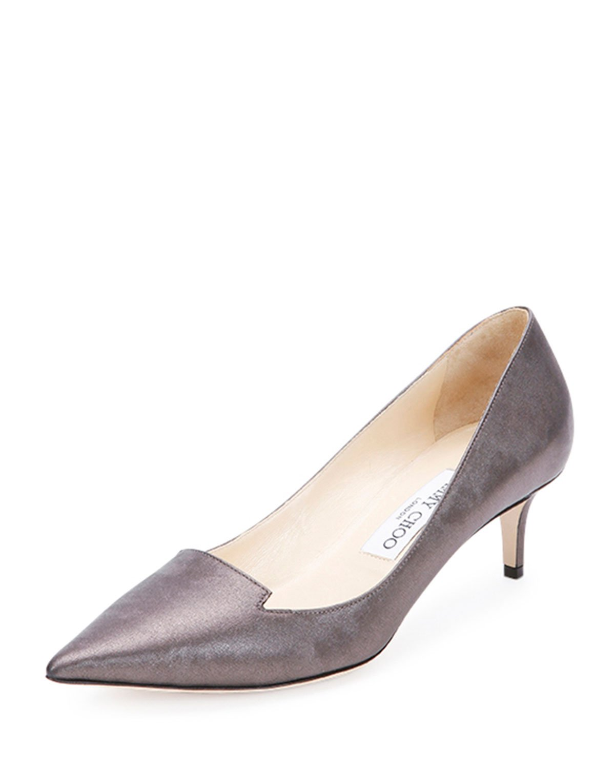 Jimmy choo Allure Kitten-Heel Pump in Metallic | Lyst