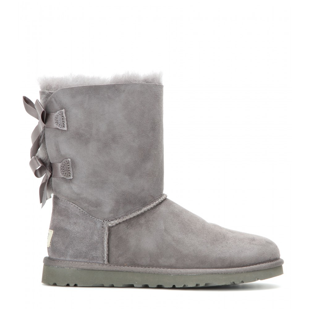 lyst ugg bailey bow boots in gray. Black Bedroom Furniture Sets. Home Design Ideas