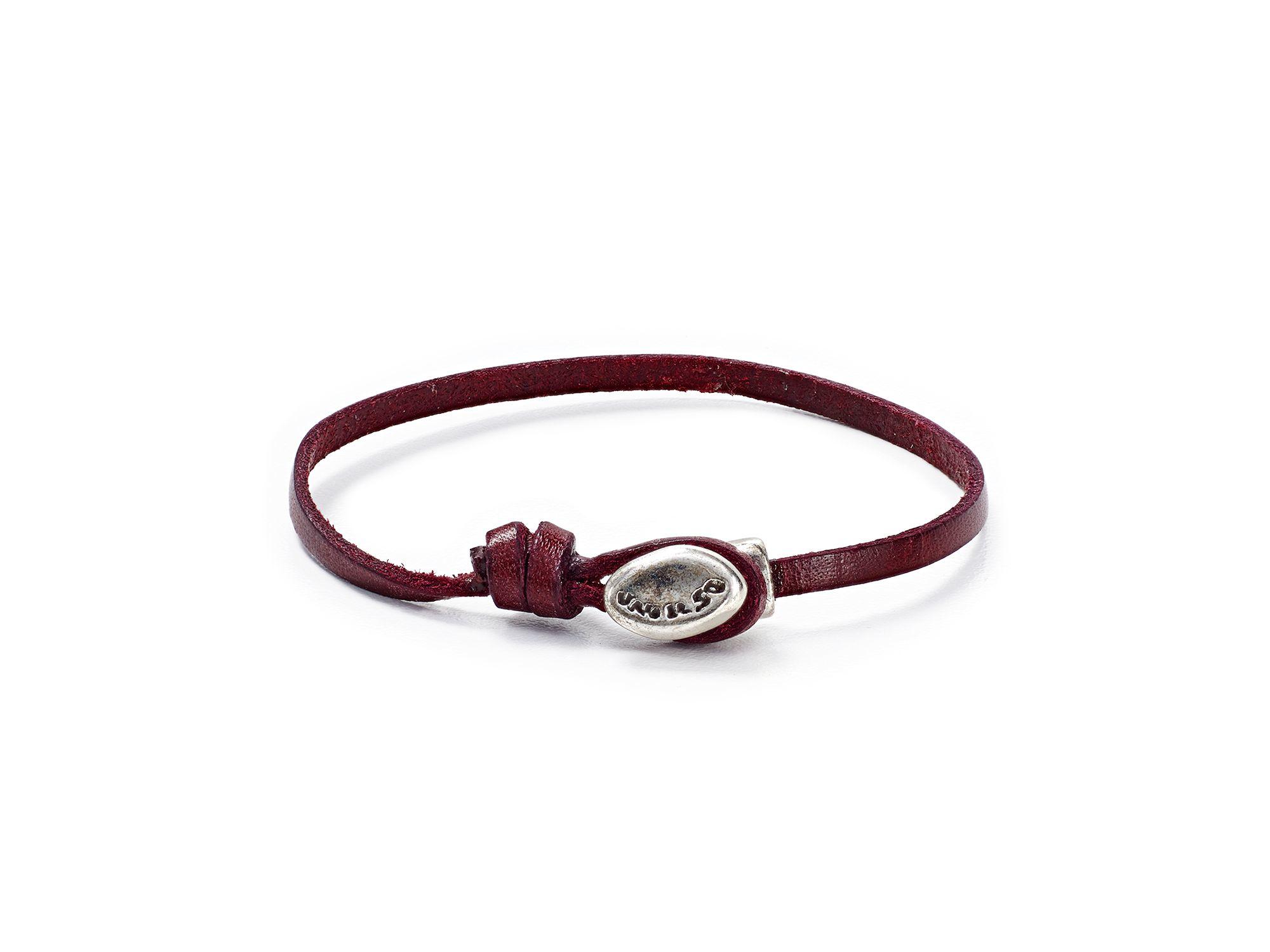 22c1565454615 Lyst - Uno De 50 Tied Up Leather Bracelet in Brown