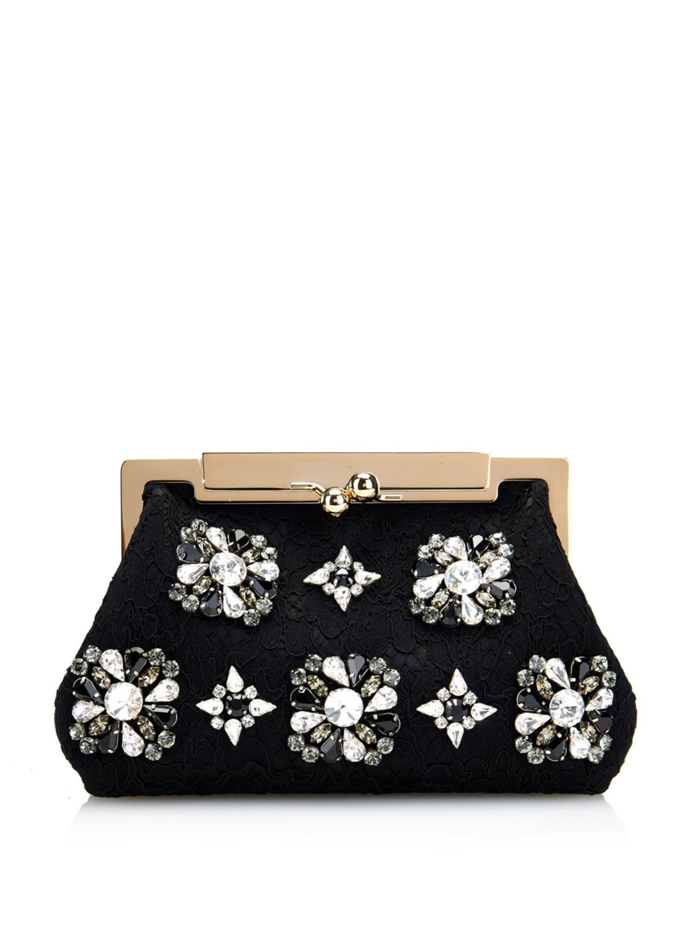 Lyst Dolce Gabbana Sara Lace And Crystal Evening Bag In Black. Black Lace  Evening Purse Best Image Ccdbb 20801b8e4ae46