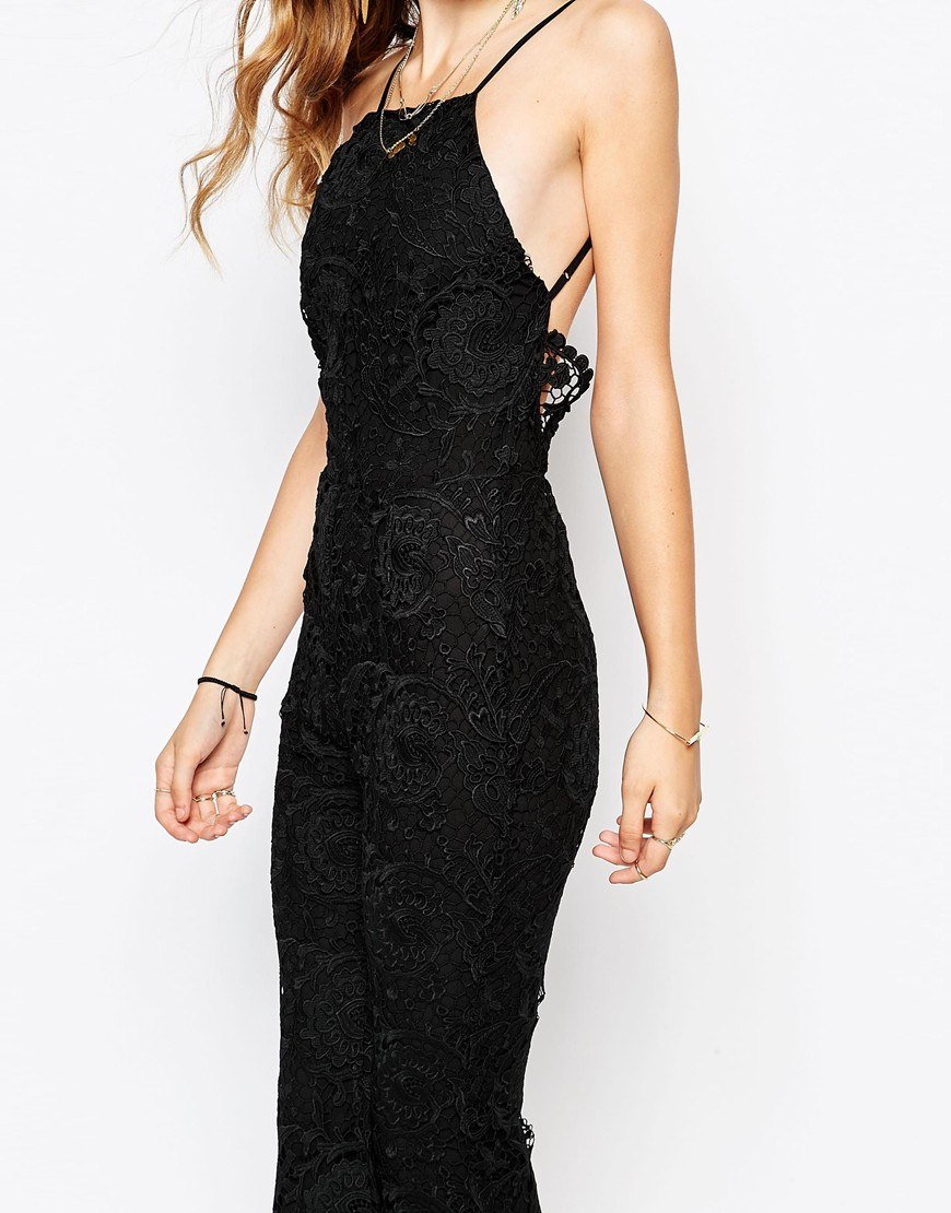ebd16b0680f2 Lyst - Stone Cold Fox Dylan Lace Jumpsuit In Black in Black