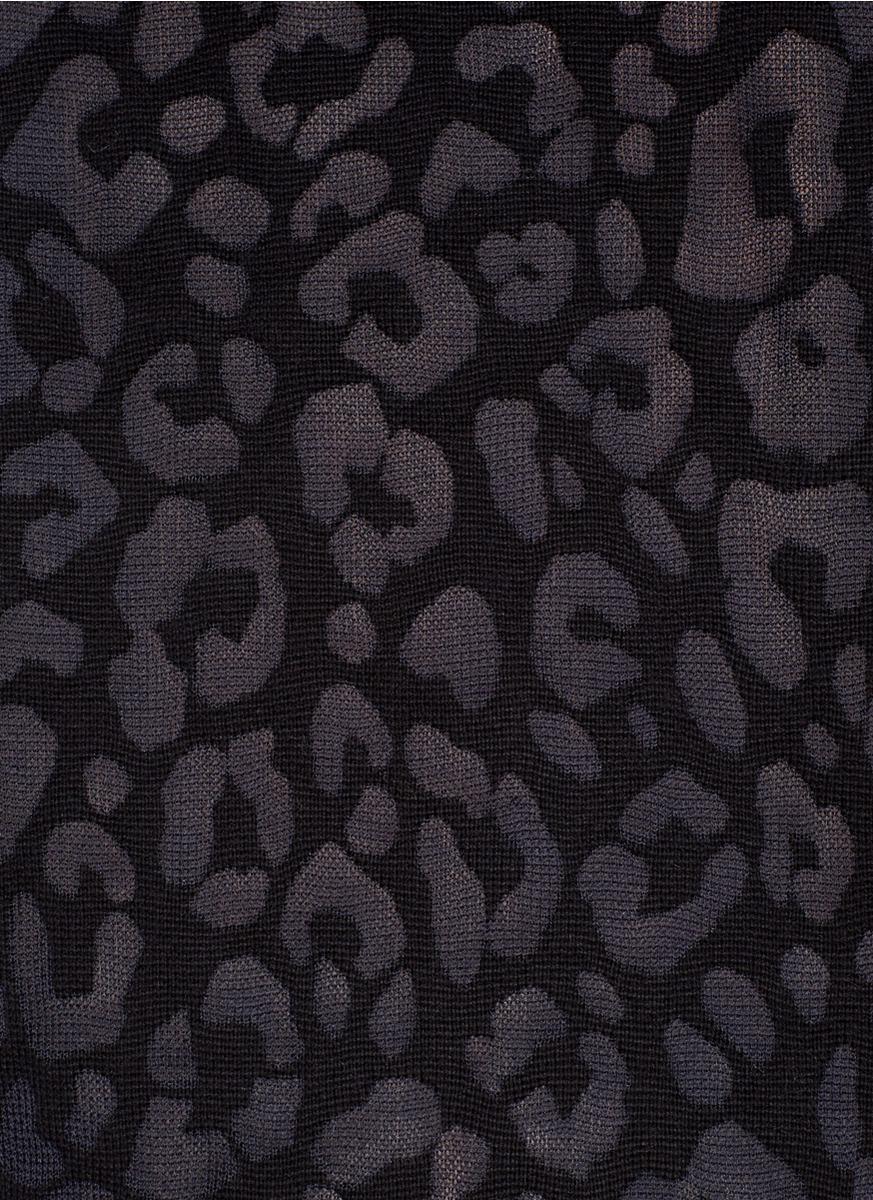 Theory Jaidyn Leopard Print Sweater in Black   Lyst