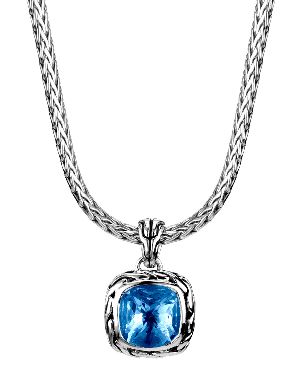 John hardy batu classic chain london blue topaz pendant for John hardy jewelry factory bali