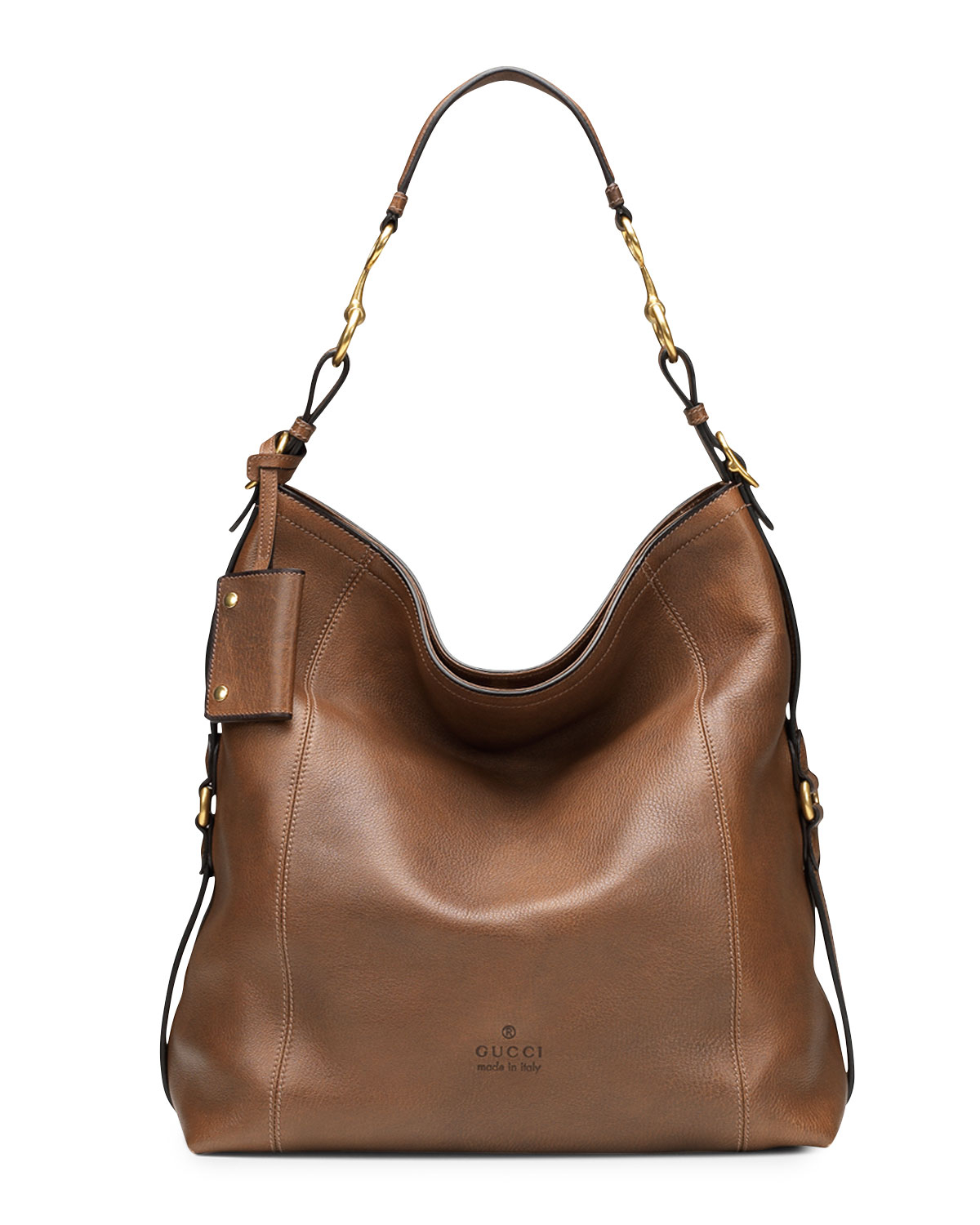 0af4e271483 Lyst - Gucci Harness Leather Hobo Bag in Brown