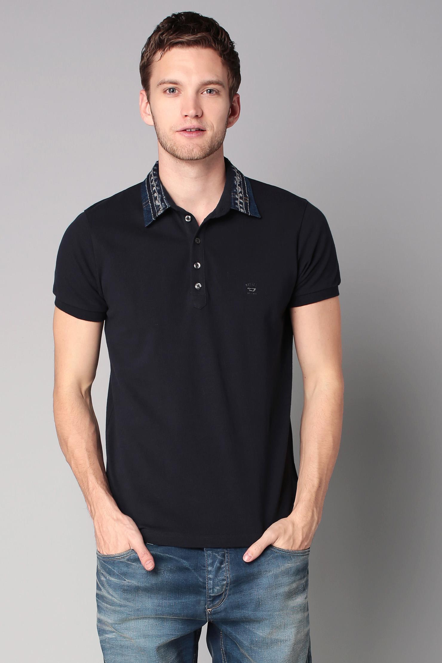 lyst diesel polo shirt in blue for men. Black Bedroom Furniture Sets. Home Design Ideas