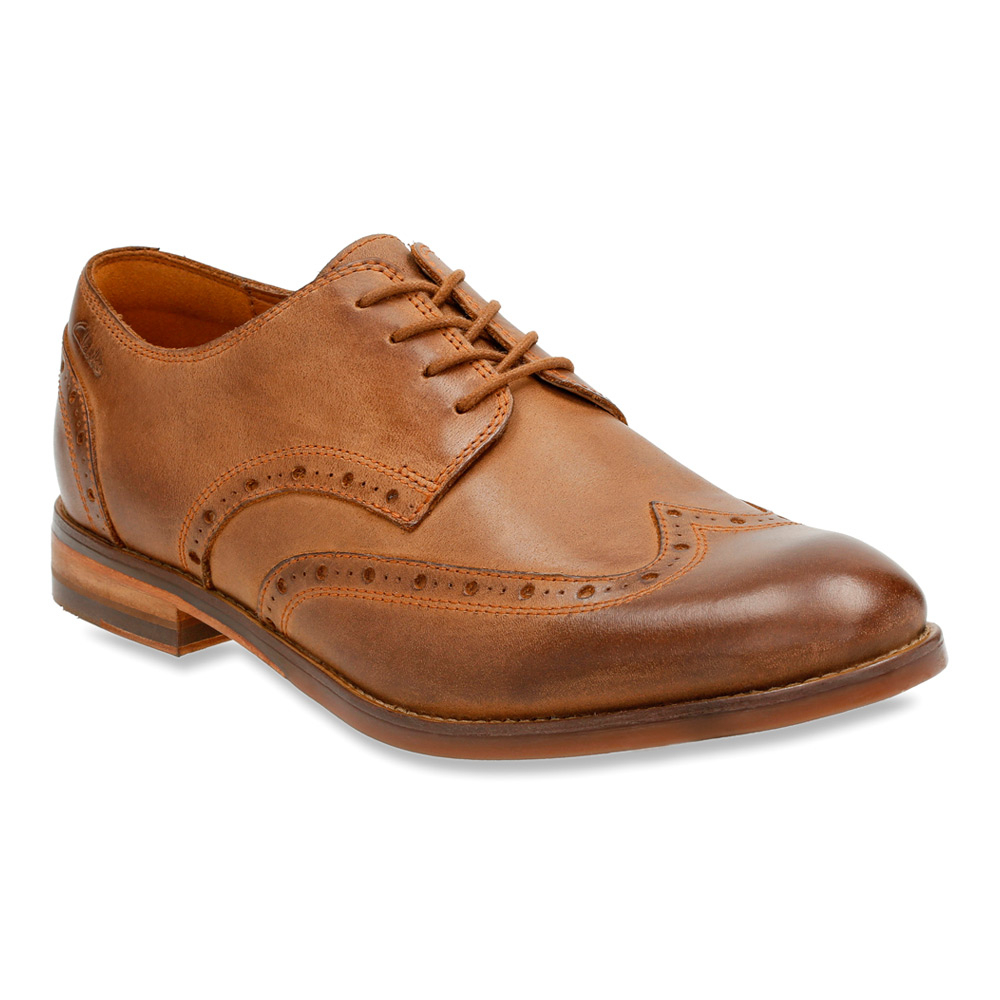 286b9734f Lyst - Clarks Exton Brogue in Brown for Men