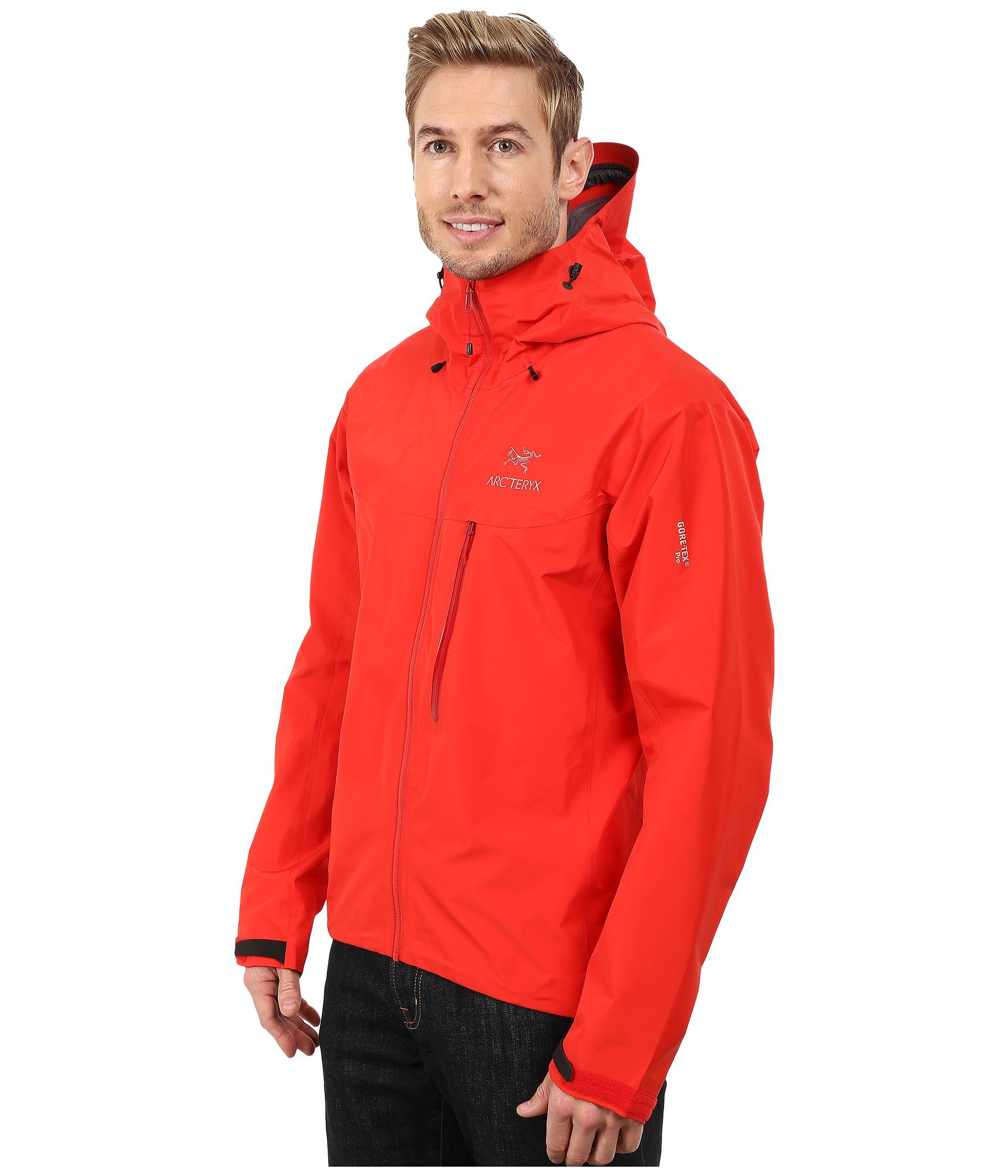 Lyst Arc Teryx Alpha Fl Jacket In Red For Men