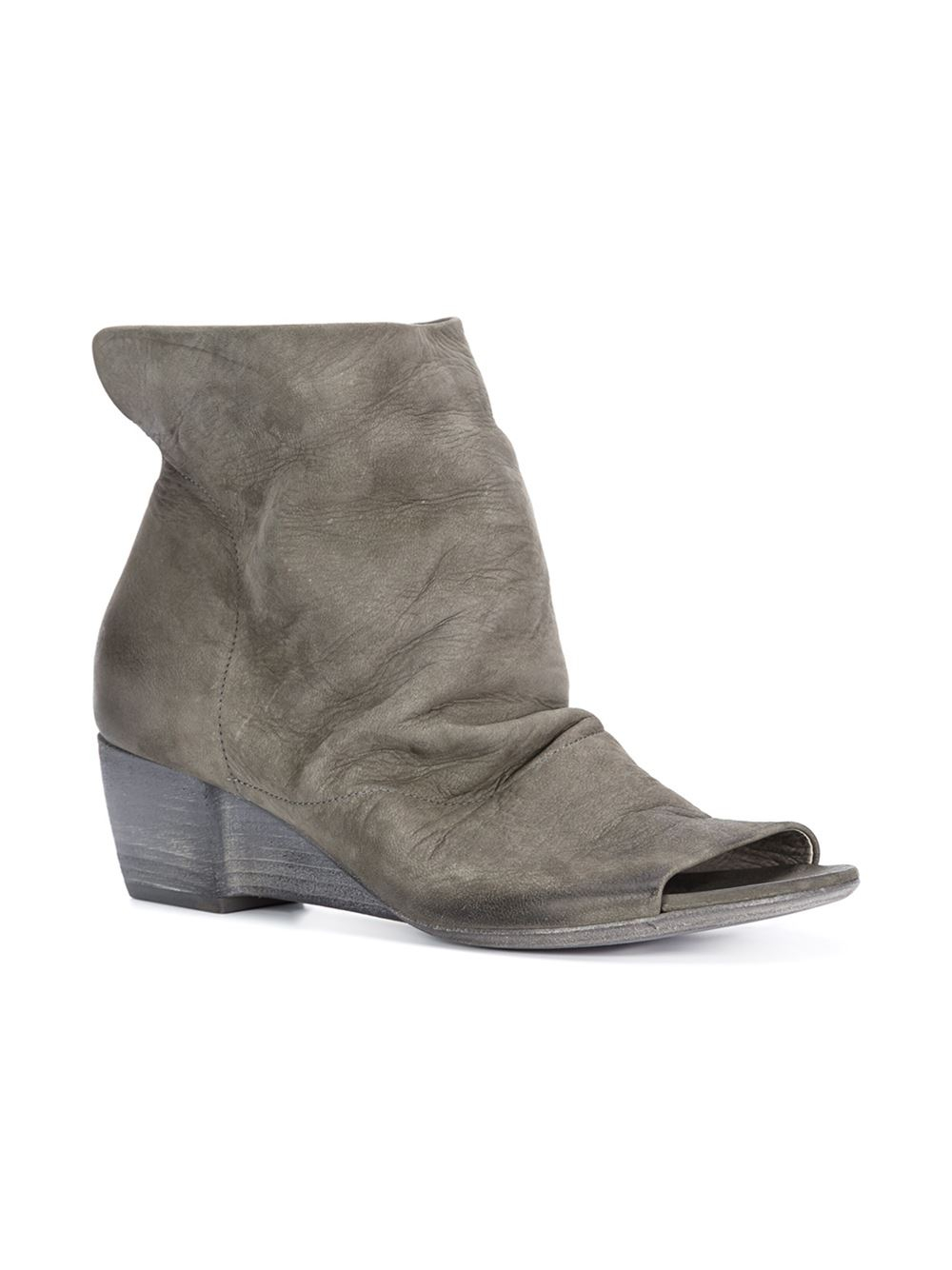 Marsèll Leather Peep-Toe Booties discount 100% original buy cheap finishline t3nOi