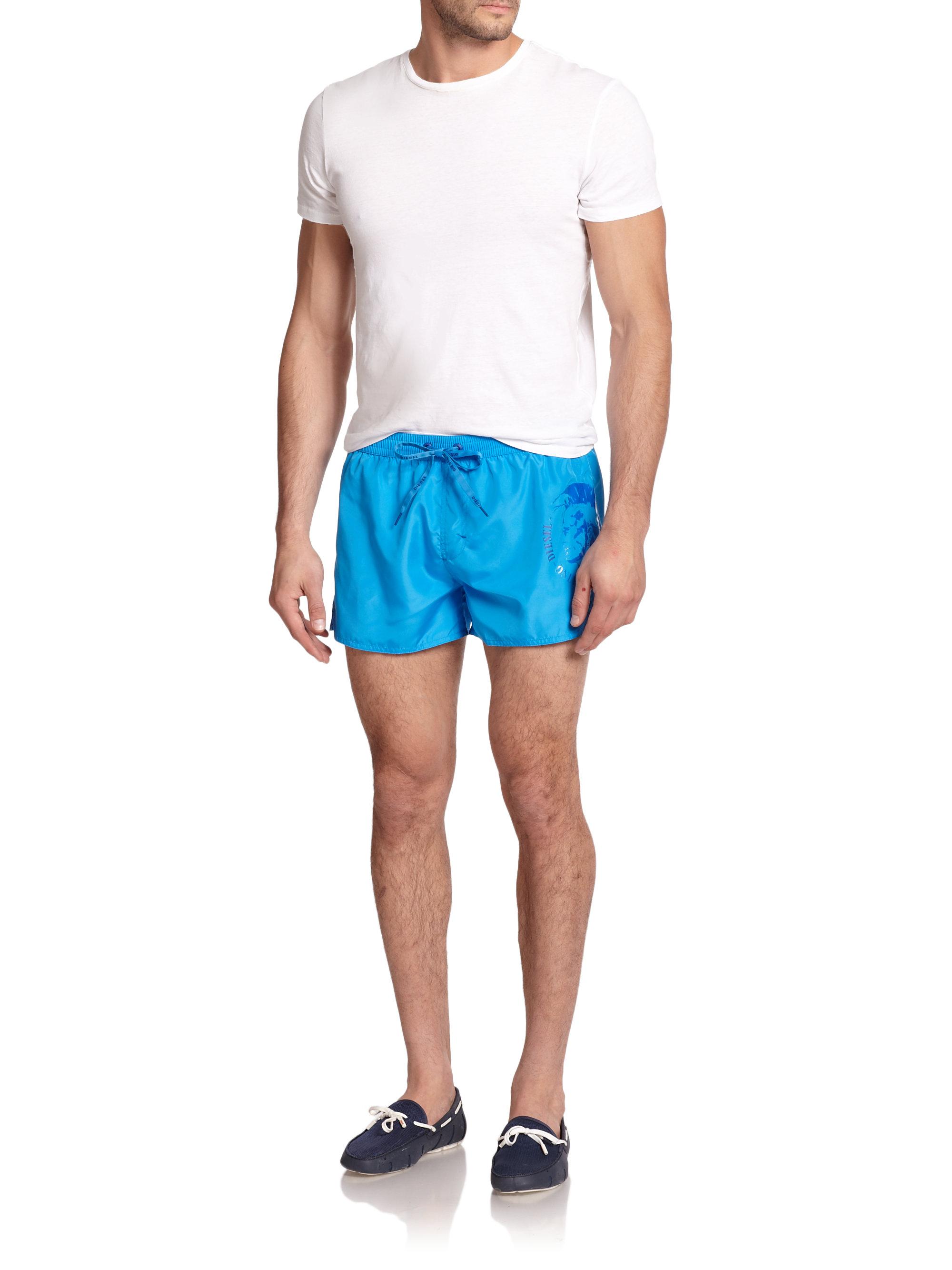 2ee2eea824 DIESEL Coralrif Mohawk-Print Swim Trunks in Blue for Men - Lyst
