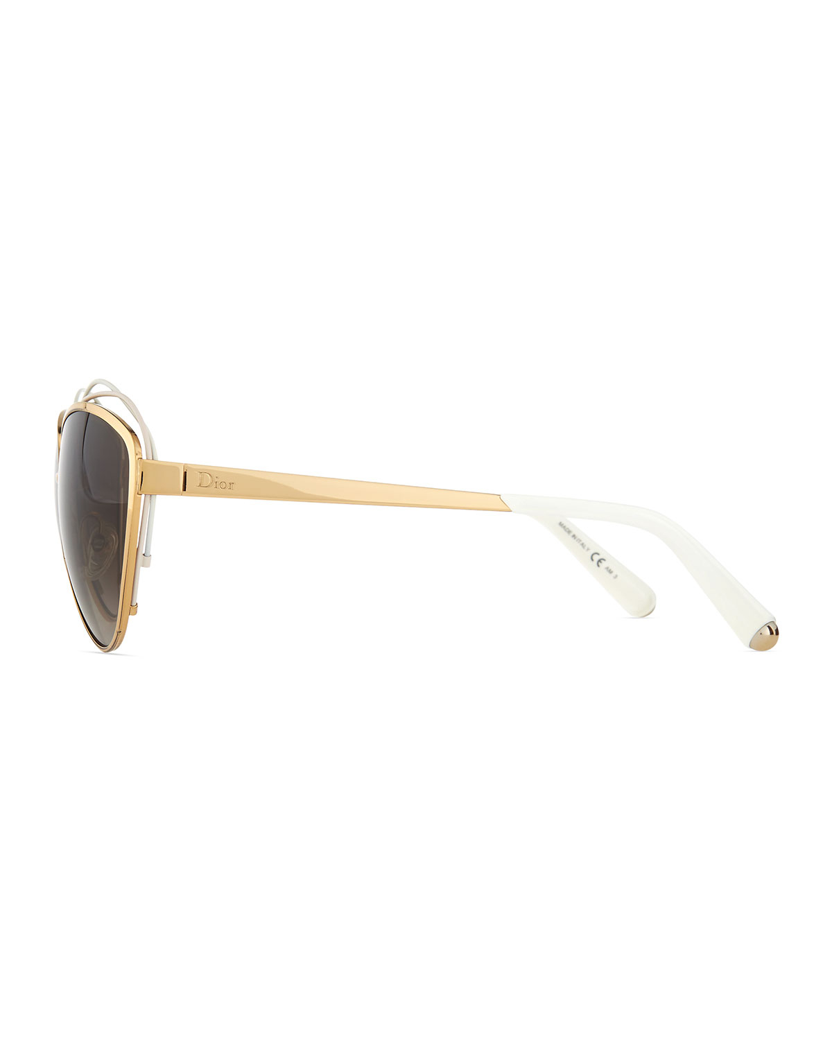 74fe99b28f07 Lyst - Dior Golden Metal Butterfly Sunglasses With Wire in White