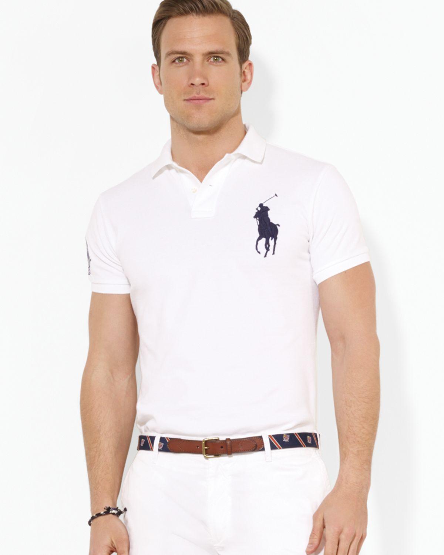 Ralph lauren polo wimbledon customfit big pony polo shirt for Custom fit dress shirts