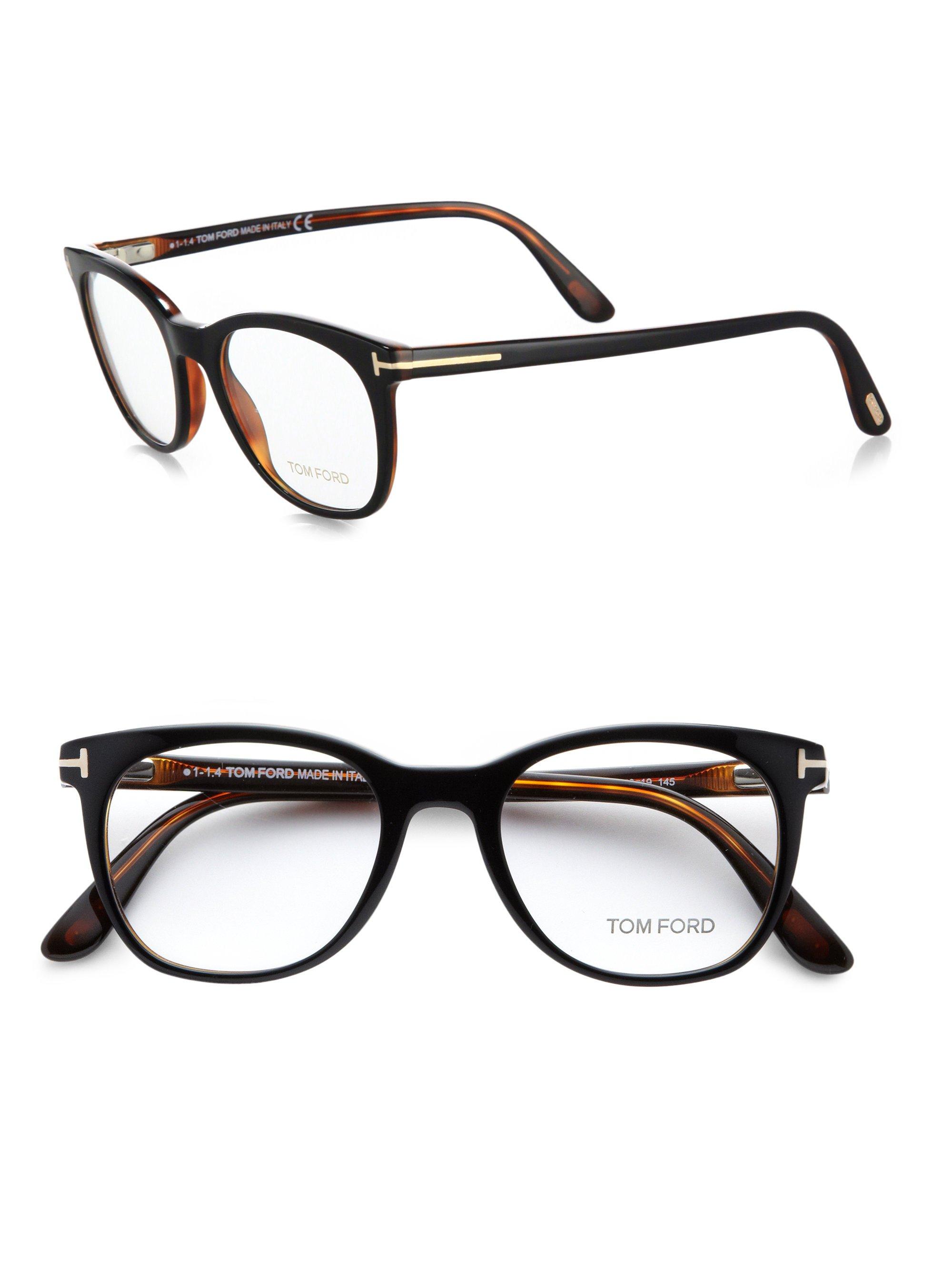 3471cff566 Tom Ford 5310 Rounded Optical Frames in Black for Men - Lyst