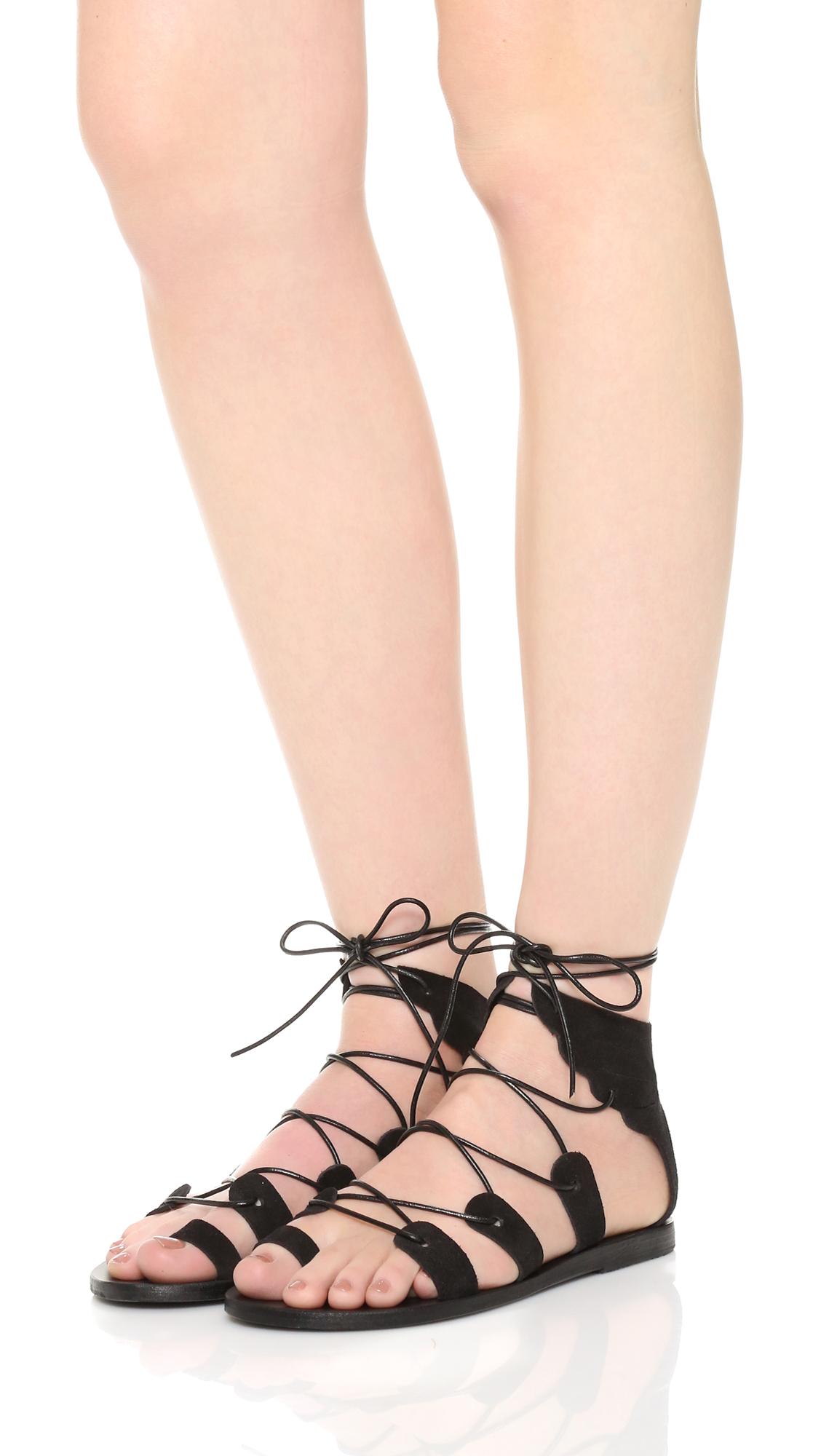 Ancient greek sandals Fteroti Gladiator Sandals in Black ...