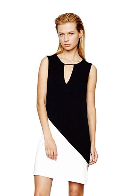 Lyst Addison Lara Asymmetrical Shift Dress In Black