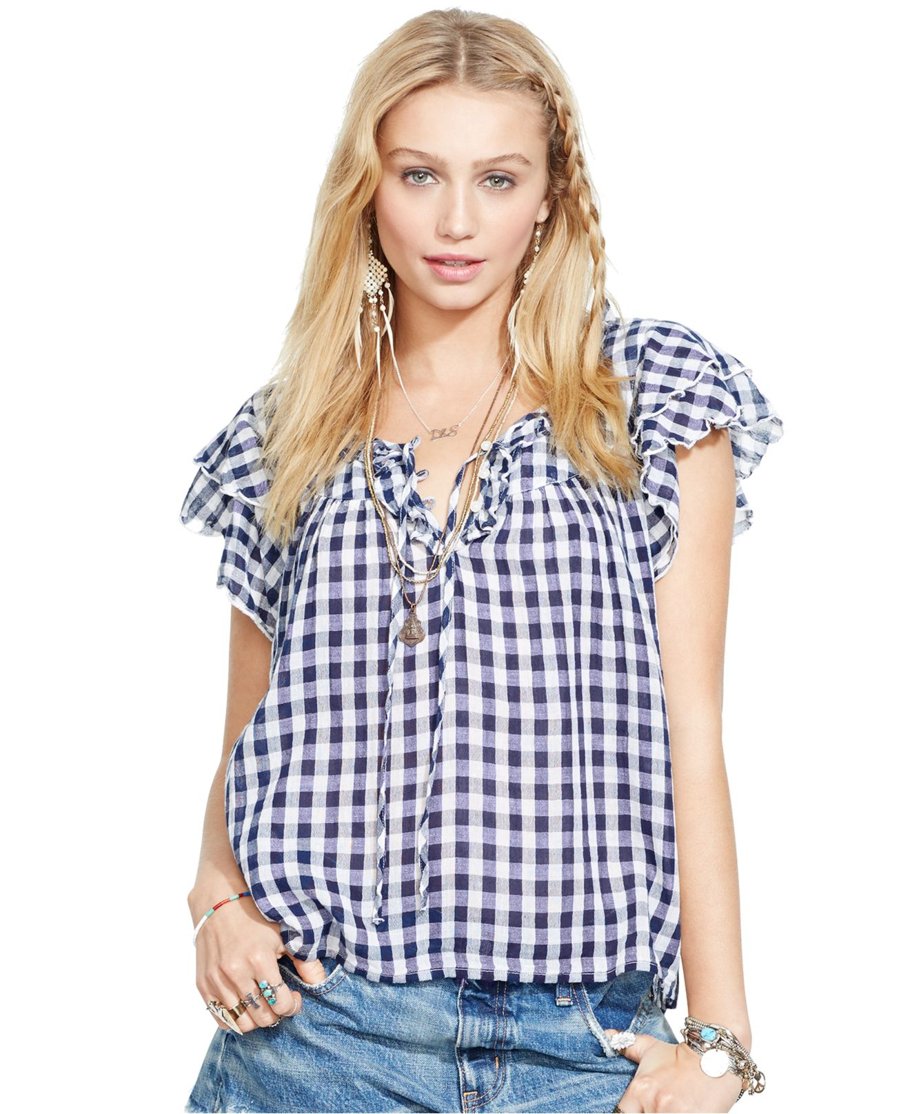 8d162fc242 Blue And White Gingham Shirt Ladies – EDGE Engineering and ...