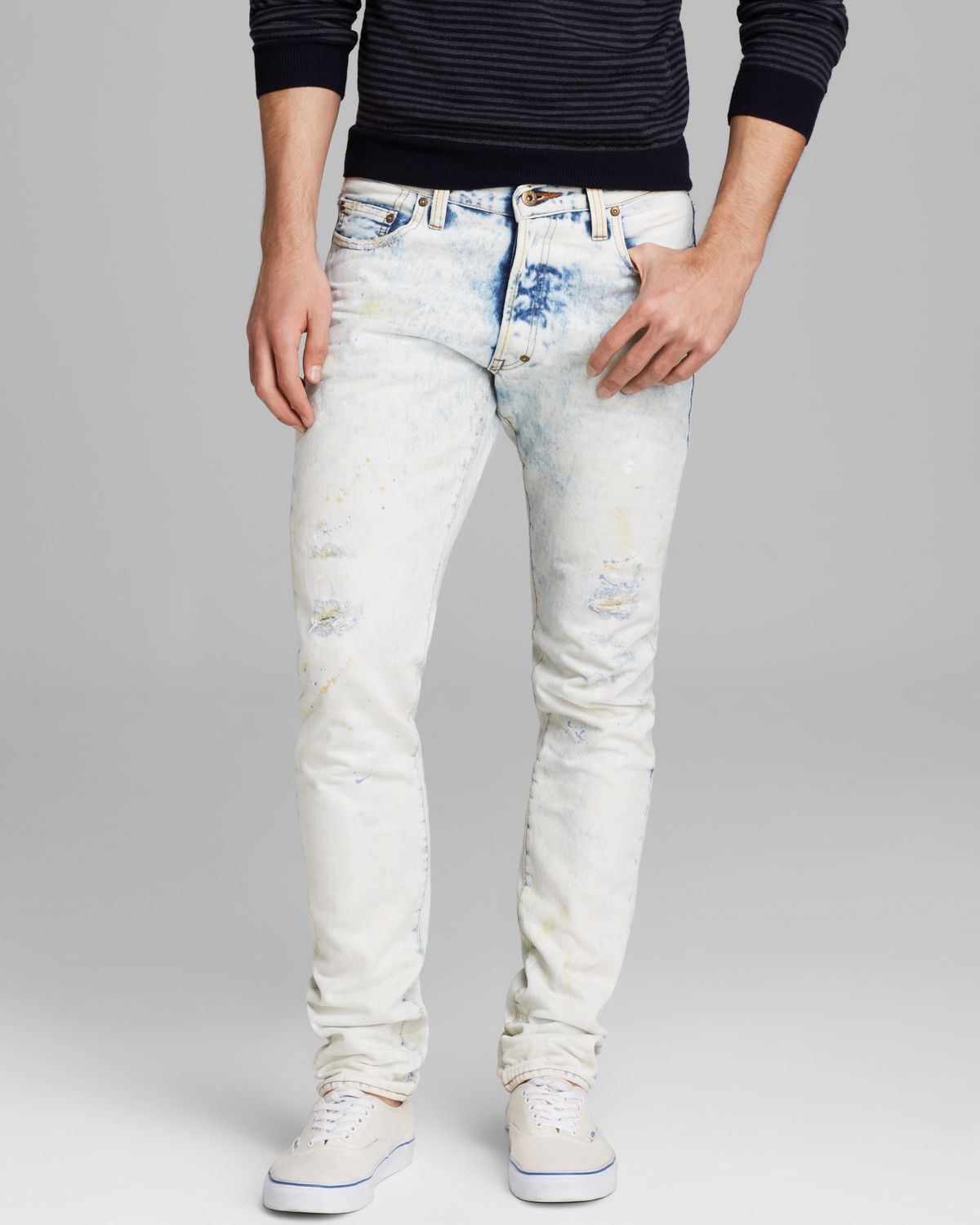 Prps Jeans Barracuda Relaxed Fit in White Washed in Blue for Men ...