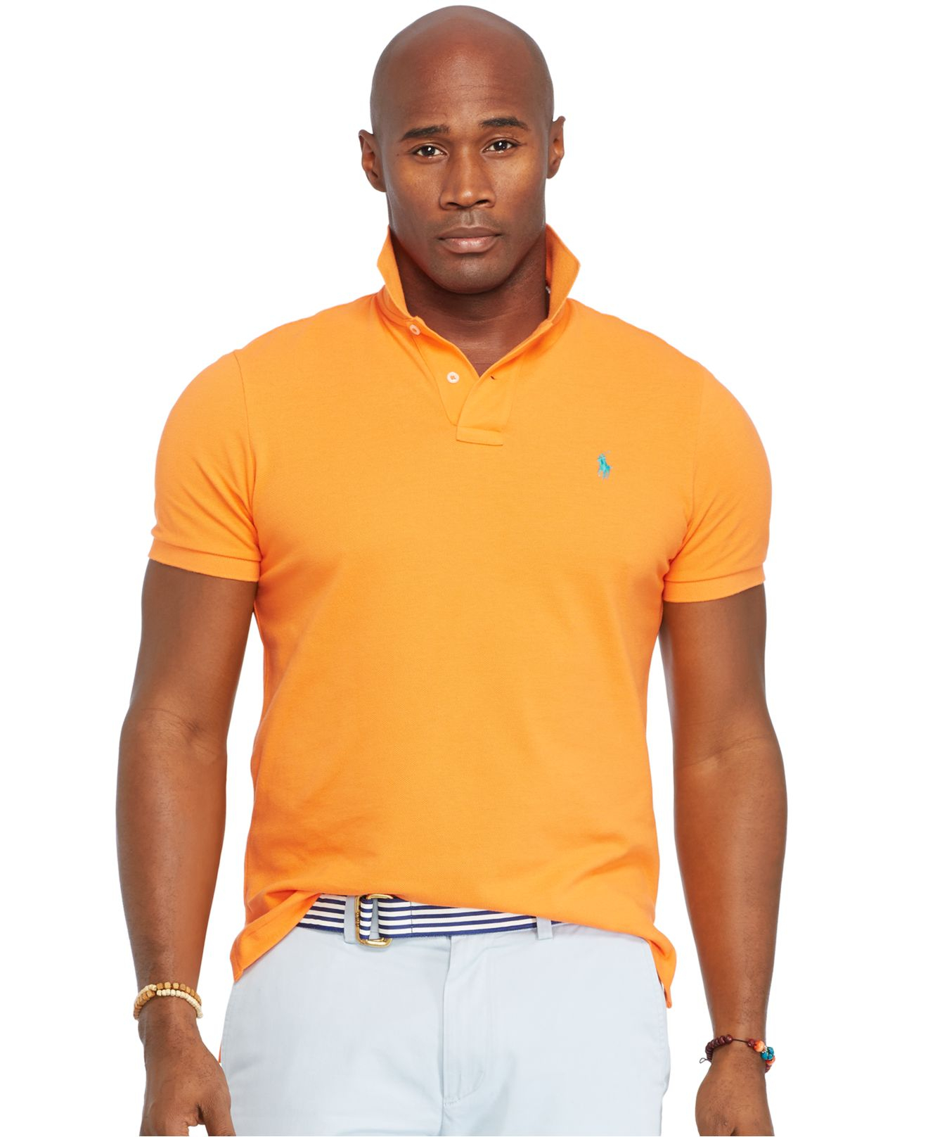 Polo ralph lauren big and tall classic mesh polo shirt in for Big size polo shirts