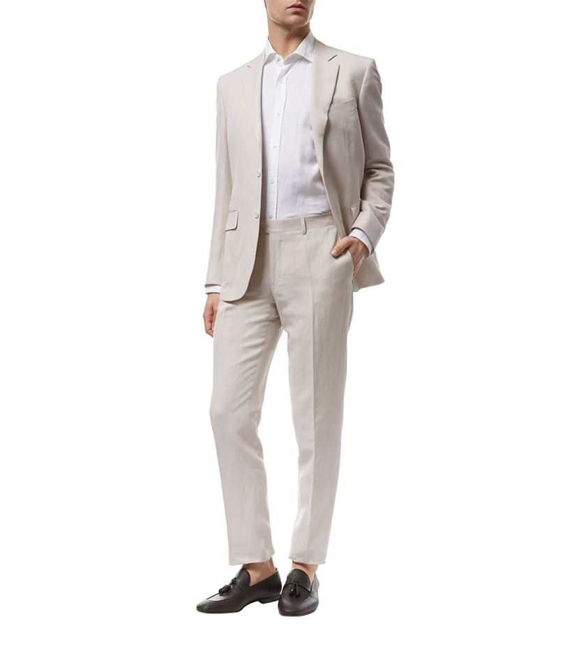 Canali Linen-silk Soft Washed Suit in White for Men | Lyst