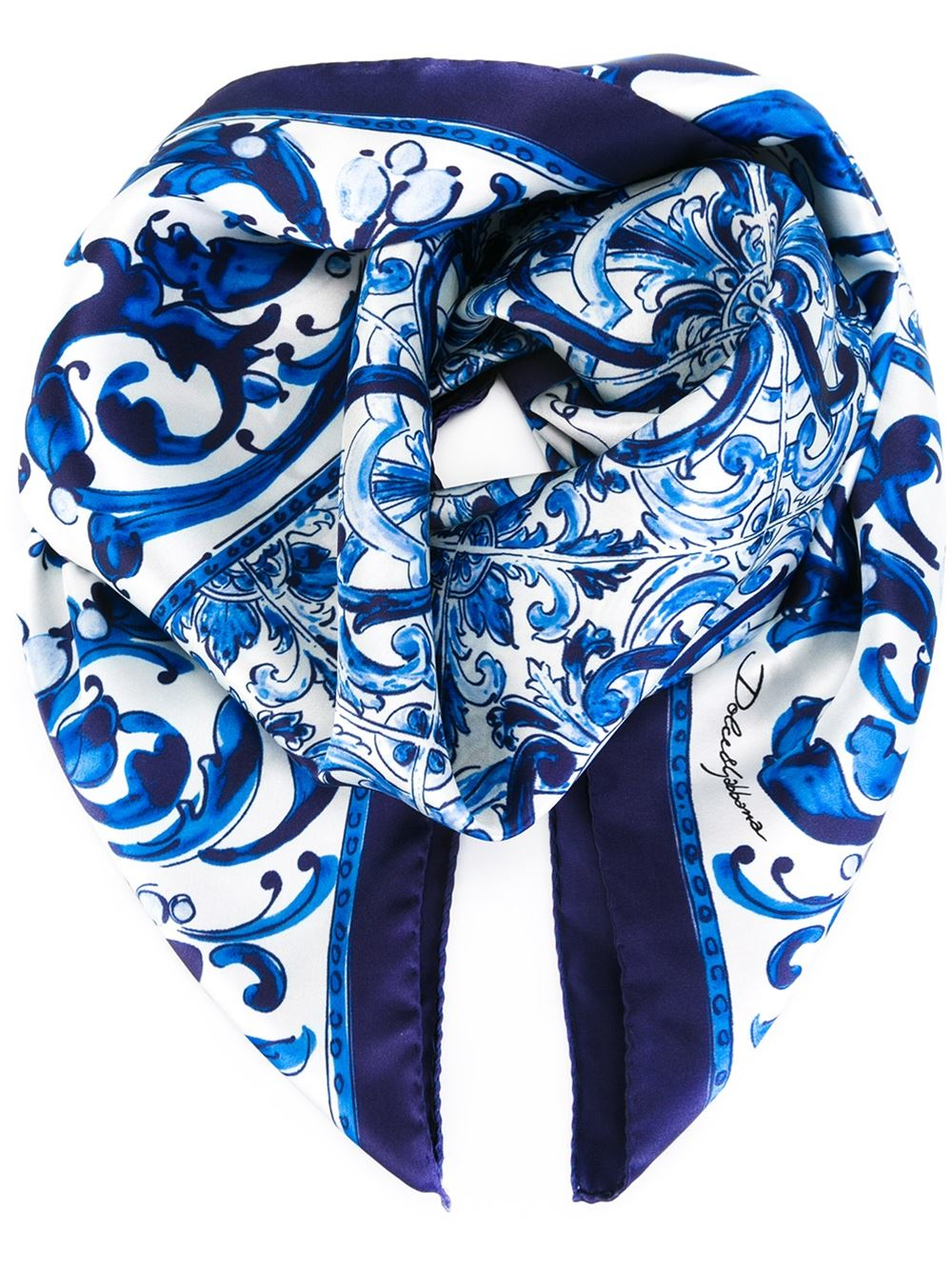 floral and leopard print scarf - Blue Dolce & Gabbana 1Uhhq