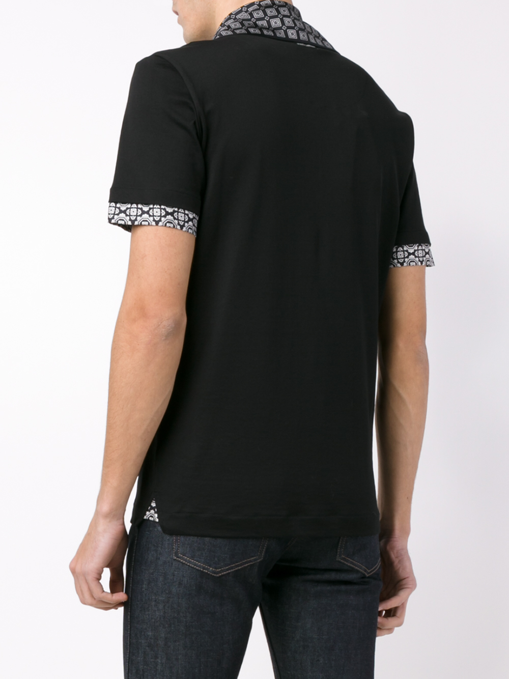 Dolce Gabbana Scarf Detail T Shirt In Black For Men Lyst