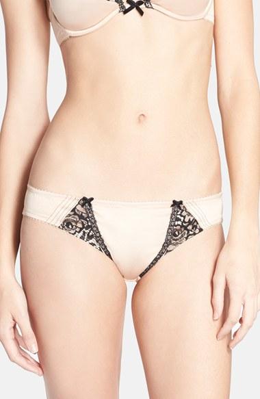 Dita von teese 'raffine' Lace Trim Bikini in Brown