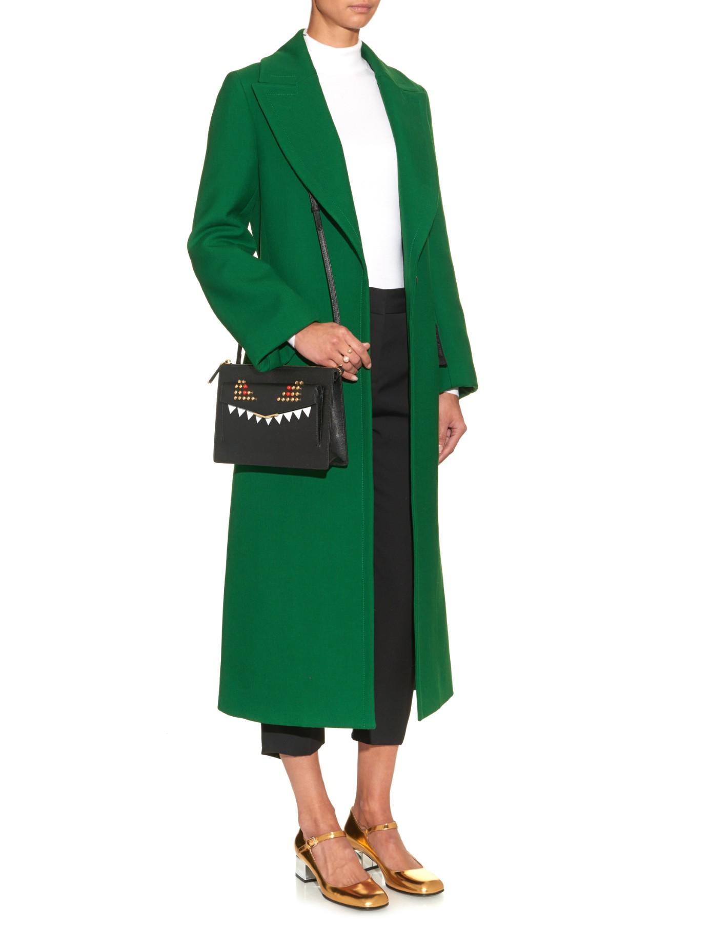 821d2435c2ca ... shop lyst fendi 2jours bag bugs leather cross body bag in black 28995  a1548