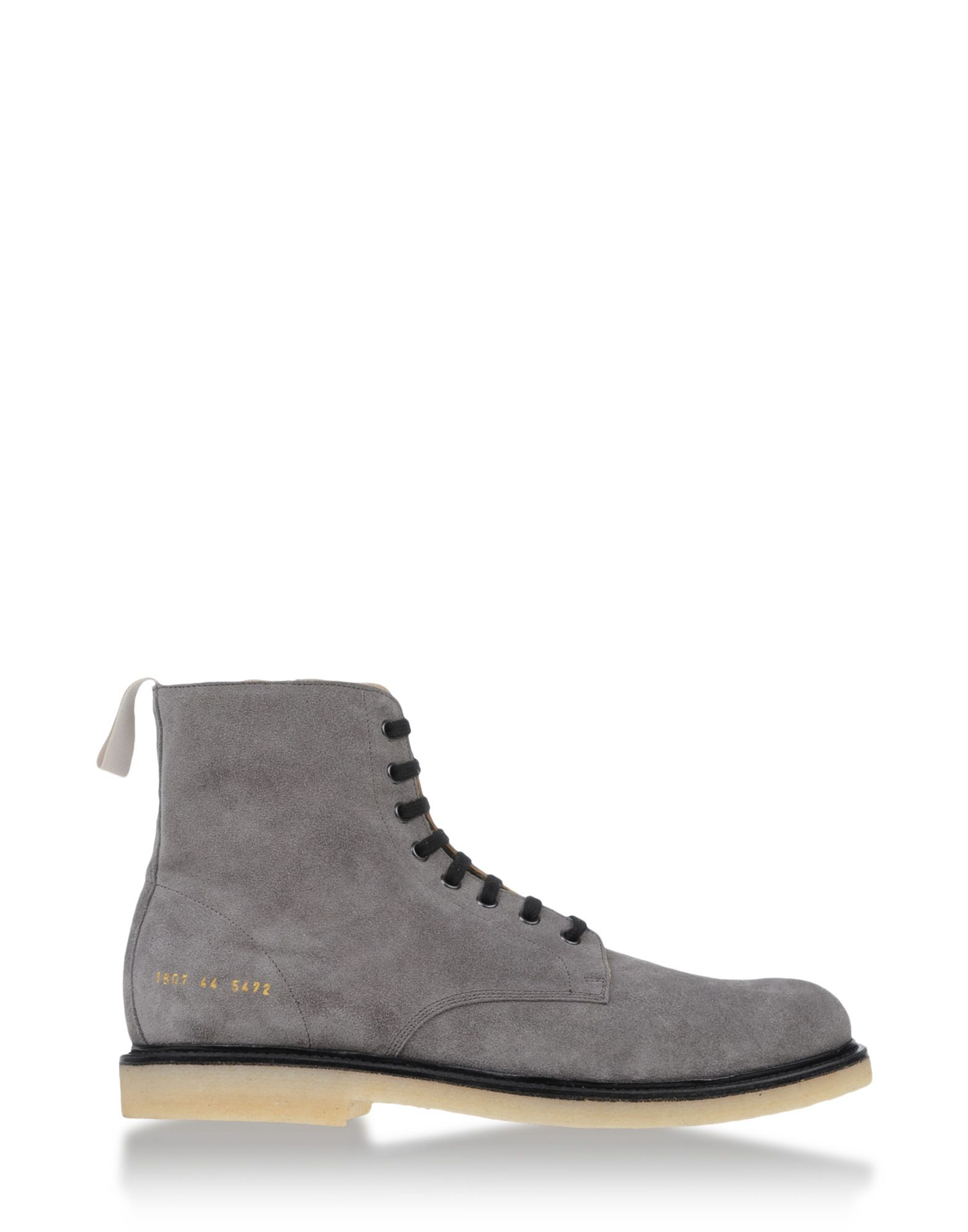 common projects ankle boots in gray for men grey lyst. Black Bedroom Furniture Sets. Home Design Ideas