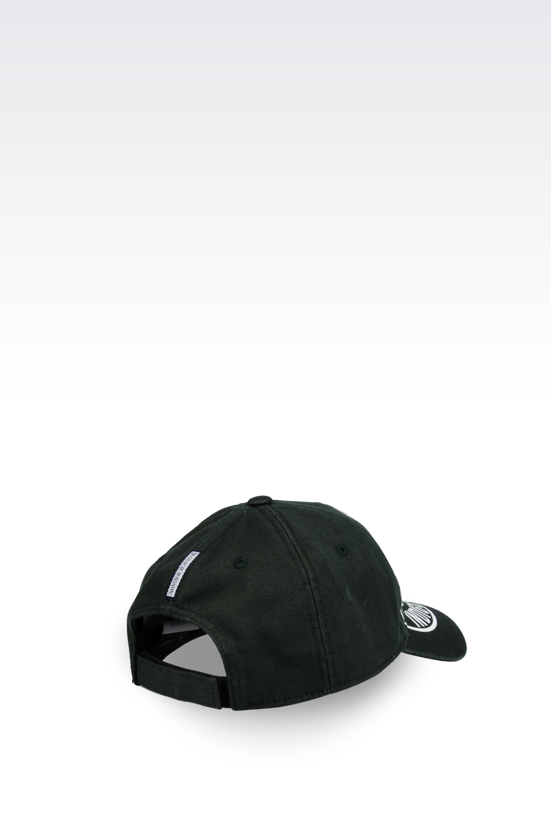 ac9d50b3588 Lyst - Armani Jeans Canvas Baseball Cap with Logo in Black for Men