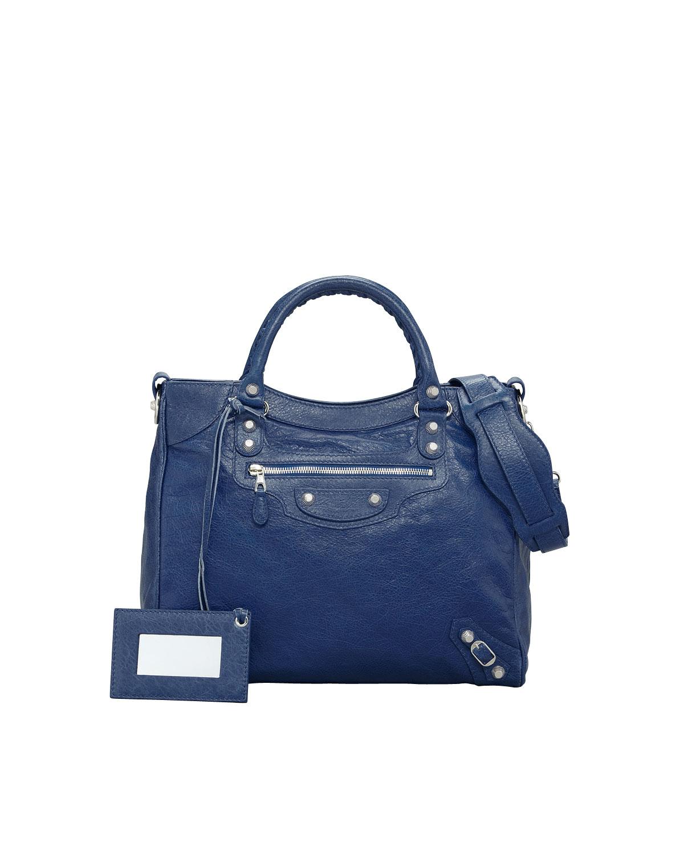665a5db0a7a9 Lyst - Balenciaga Giant 12 Nickel Velo Bag Bleu Mineral in Blue