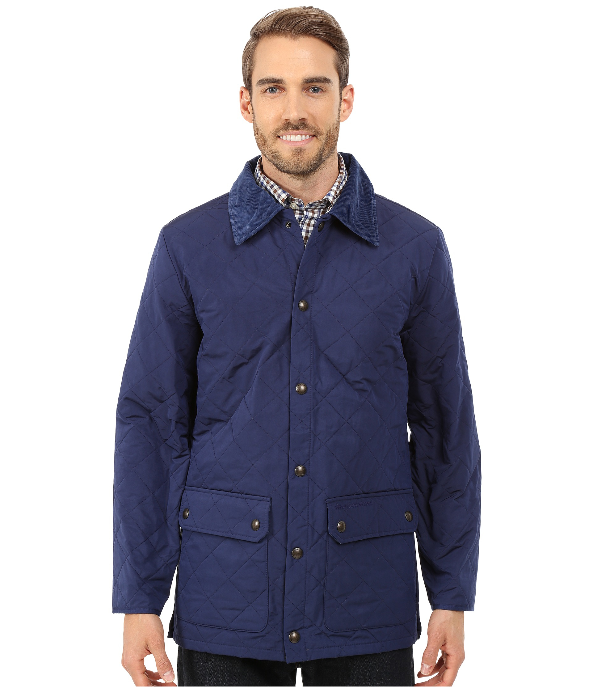 Vineyard Vines Quilted Jacket In Blue For Men Lyst
