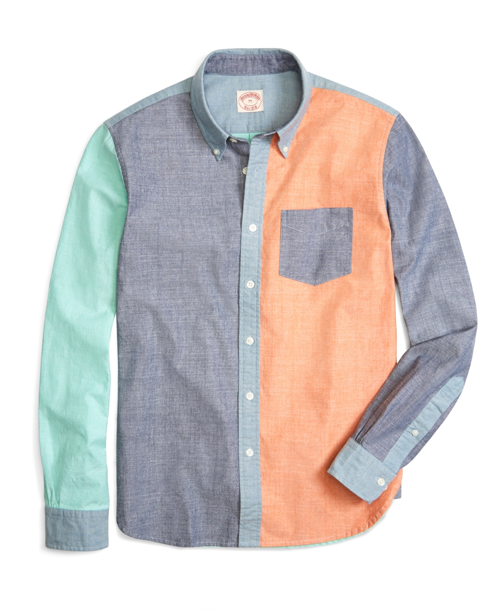 Brooks brothers chambray fun sport shirt in multicolor for for Brooks brothers sports shirts