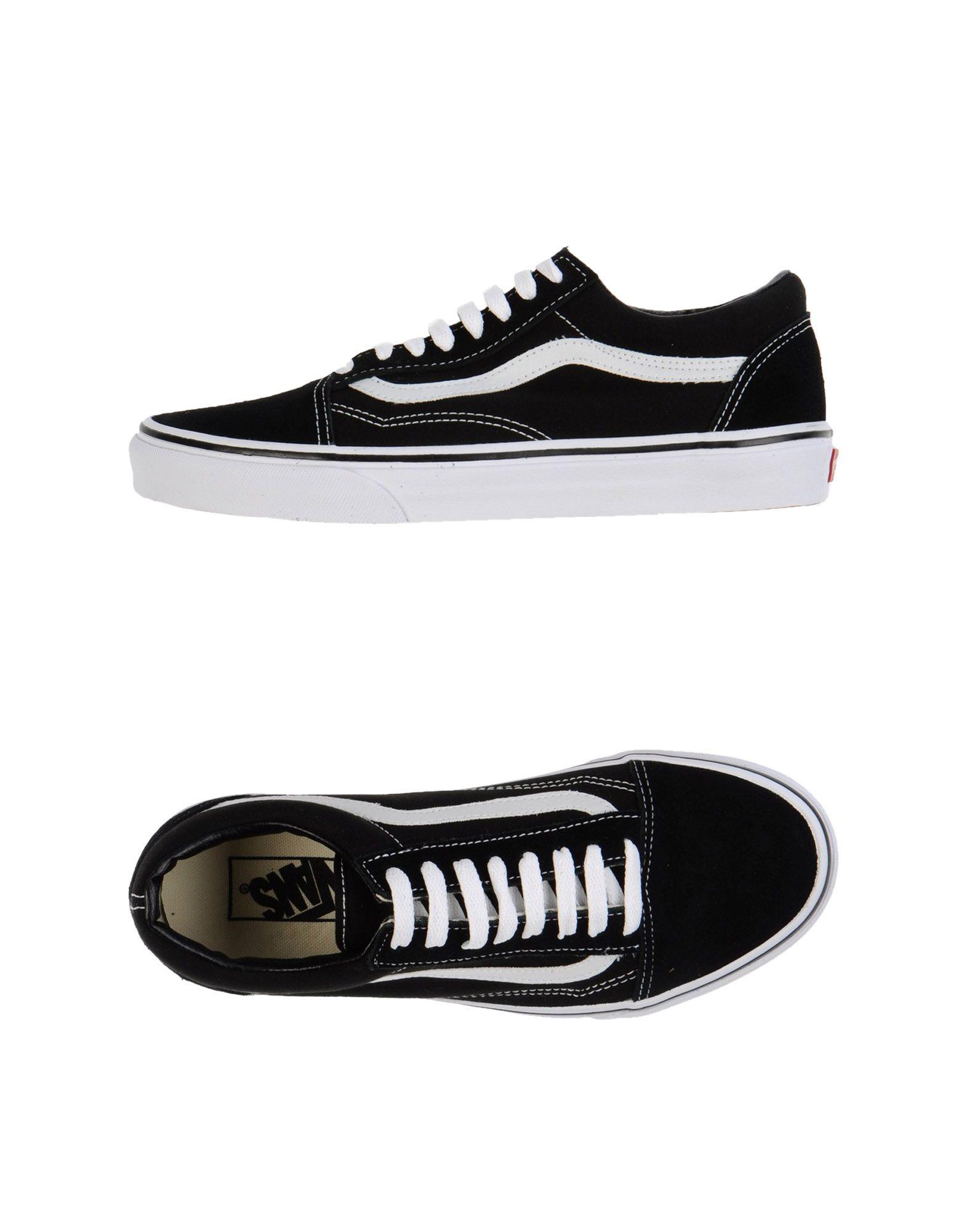 lyst vans low tops trainers in black for men. Black Bedroom Furniture Sets. Home Design Ideas