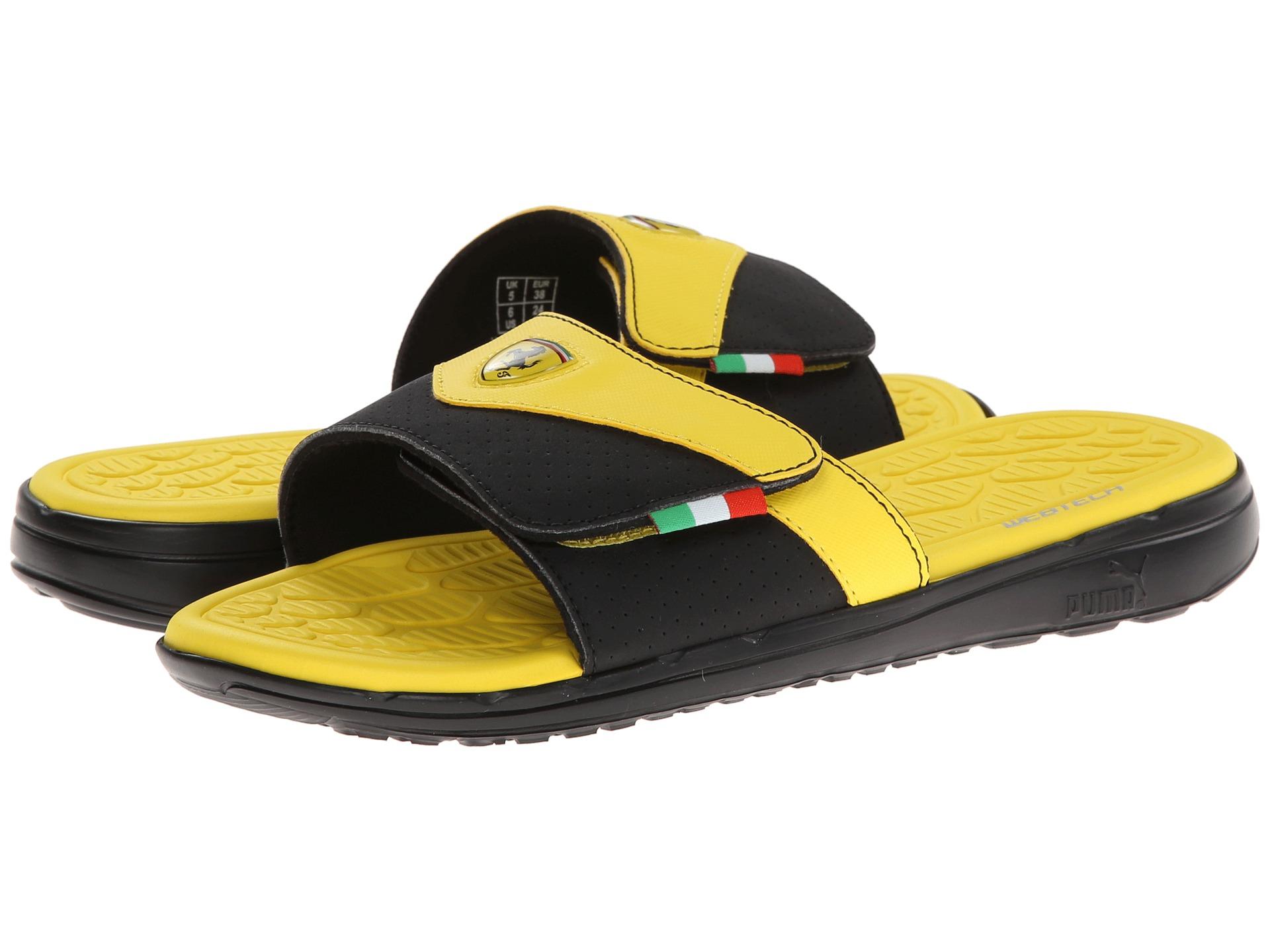 Lyst Puma Ferrari Slip In Slide In Yellow For Men