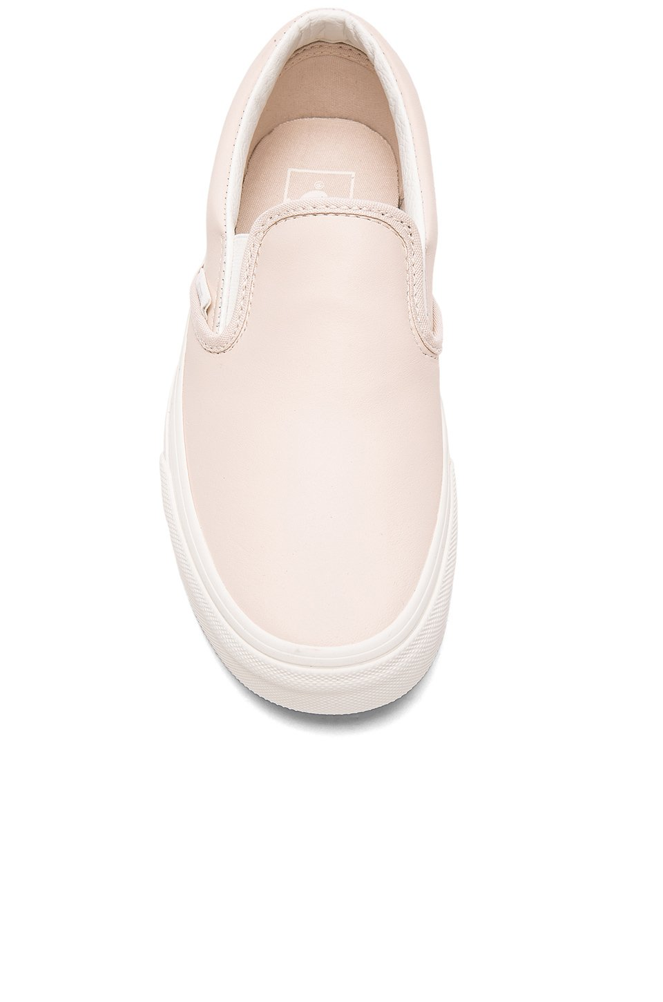 new photos classic fit best selling vans slip ons pink leather