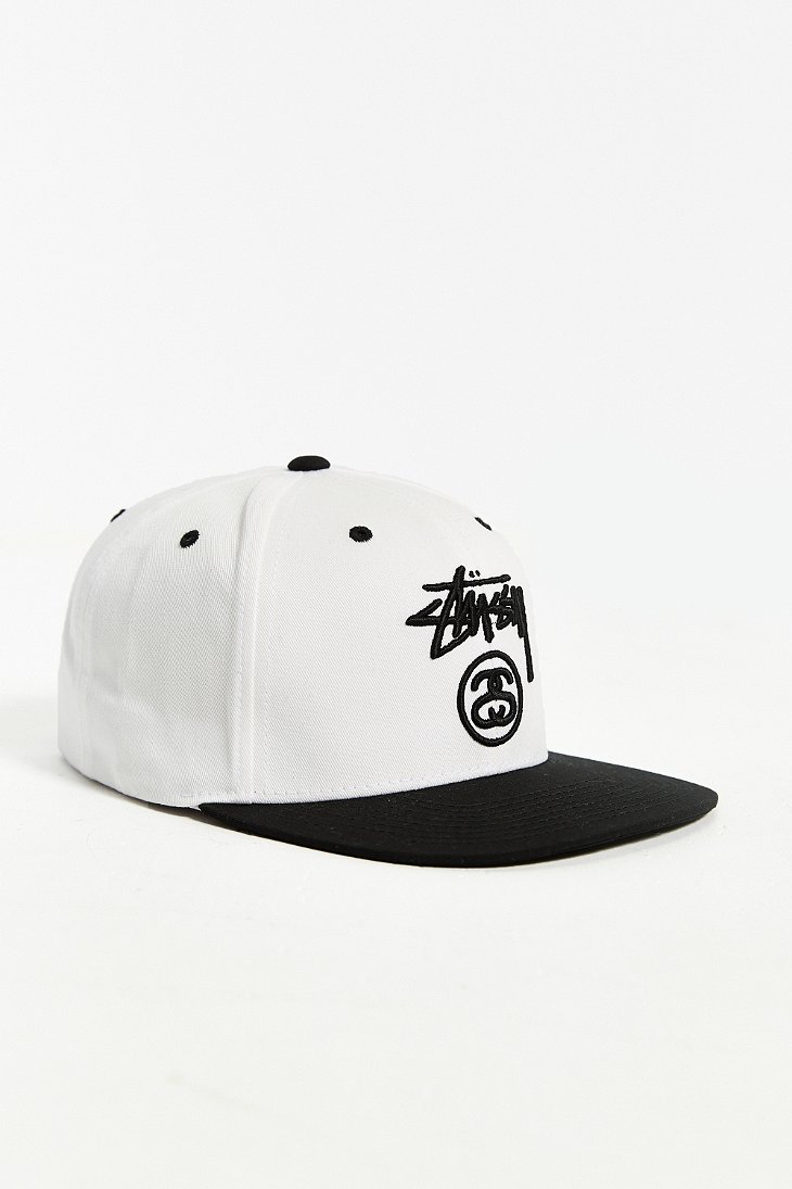 7b2d9e4078f Lyst - Stussy Stock Lock Su-15 Snapback Hat in White for Men
