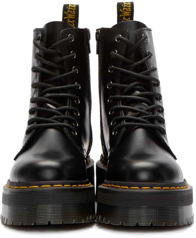 8641735c47c8 Dr. Martens Black Eight-eye Jadon Boots in Black - Lyst