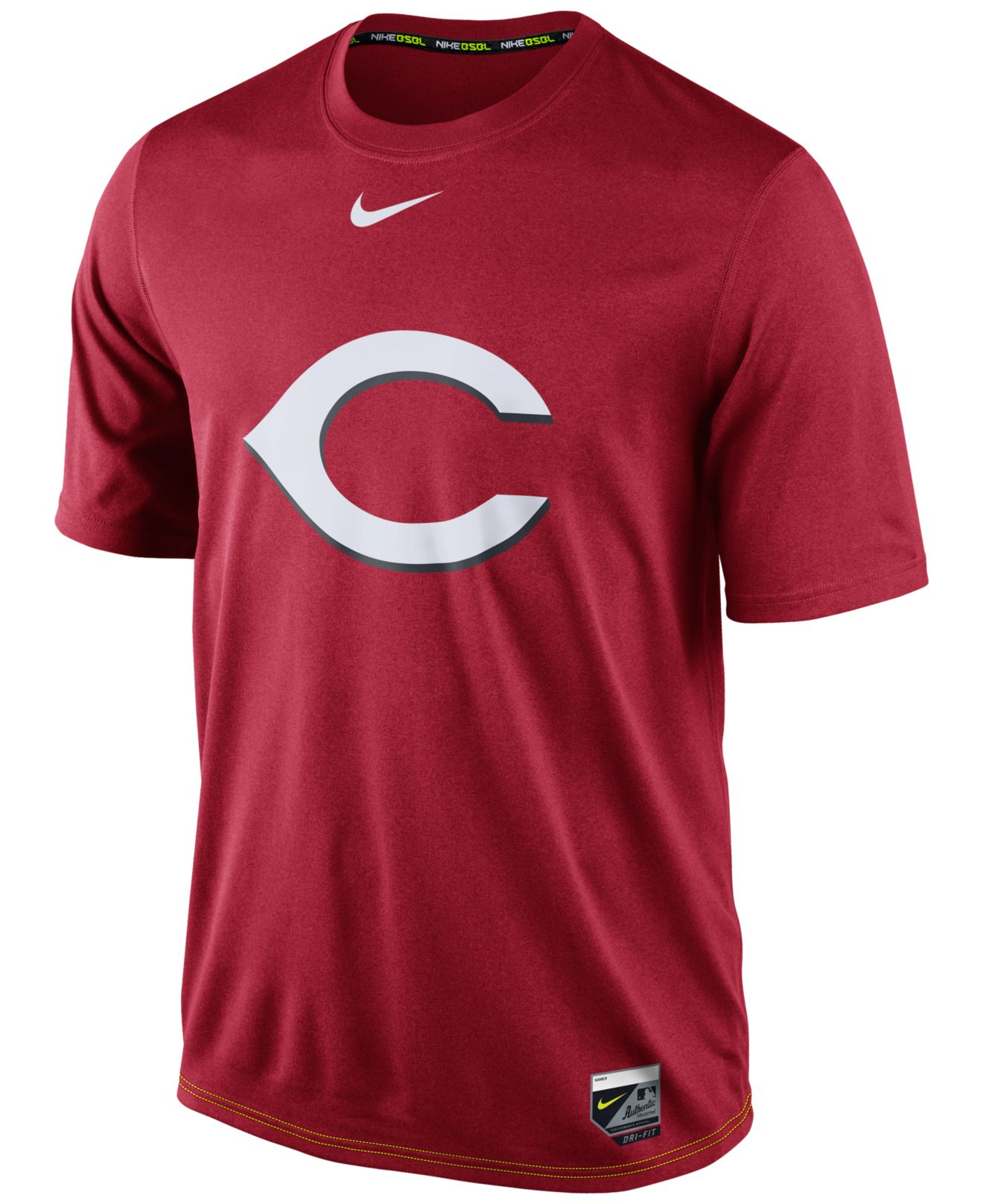 Nike Men 39 S Cincinnati Reds Dri Fit Legend T Shirt In Red