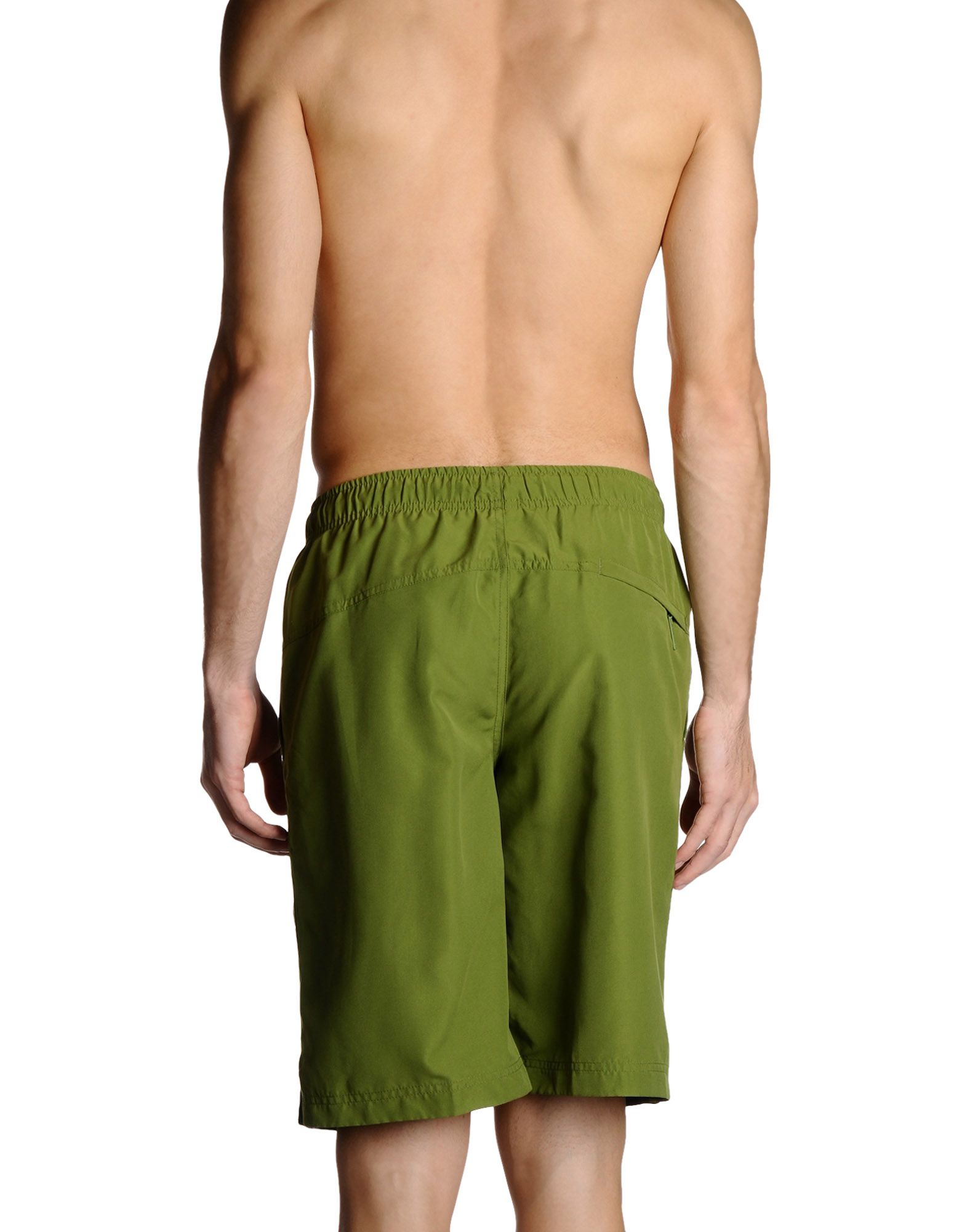calvin klein swim trunks in green for men lyst. Black Bedroom Furniture Sets. Home Design Ideas