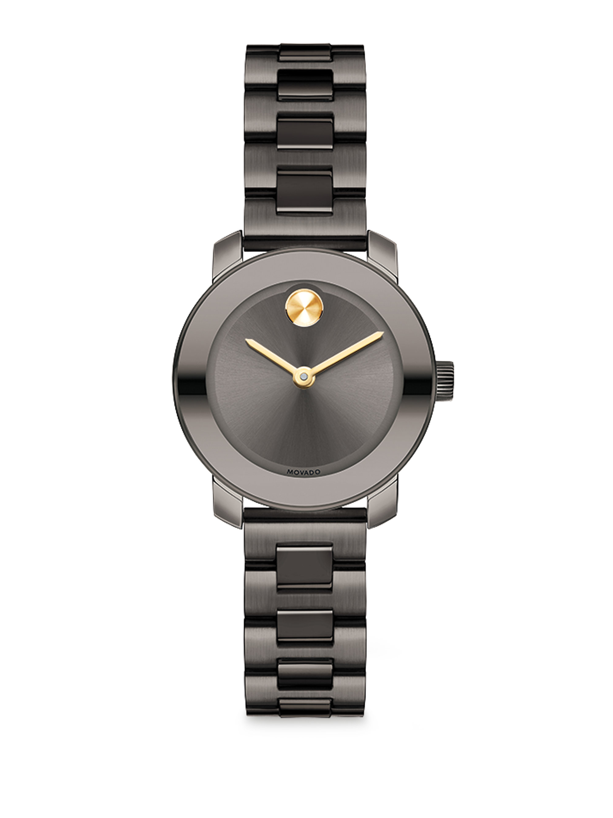 be982cac5 Movado Bold Grey Ip Stainless Steel Bracelet Watch in Gray - Lyst