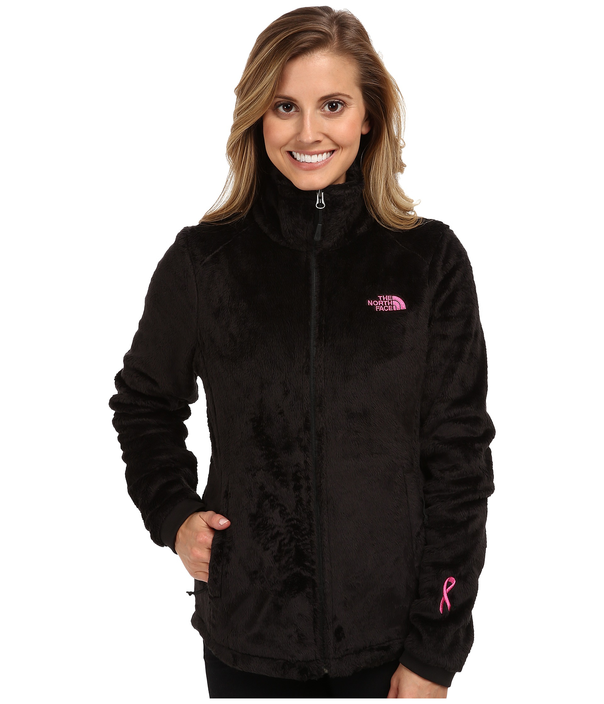 ... sweden lyst the north face pink ribbon osito 2 jacket in black 3e5c5  0fc69 4fd234a3f