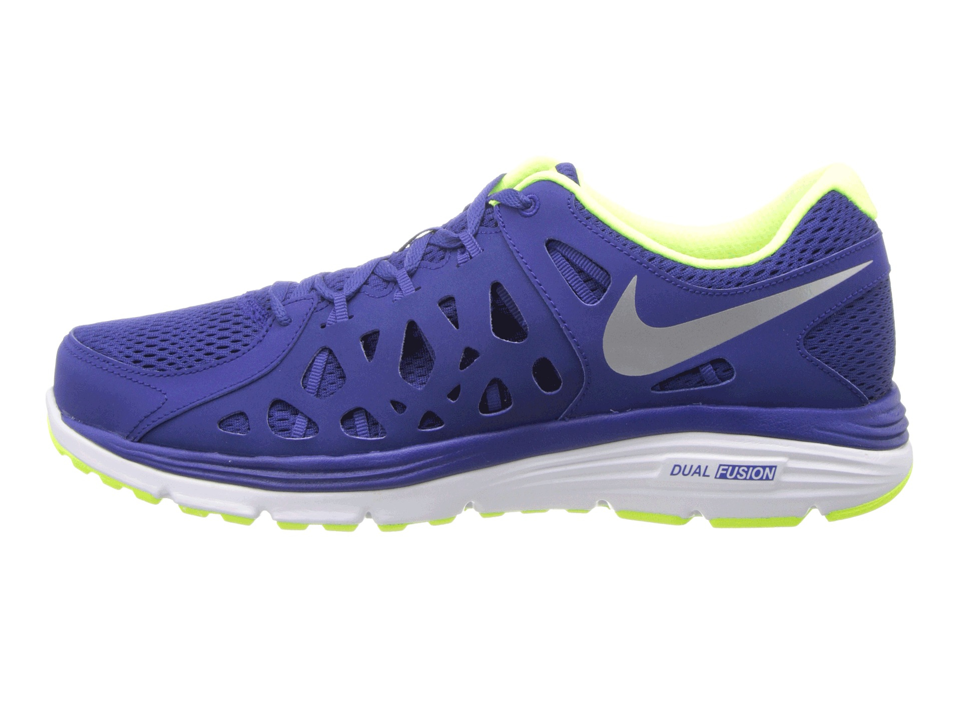 nike dual fusion run 2 in blue for men lyst. Black Bedroom Furniture Sets. Home Design Ideas