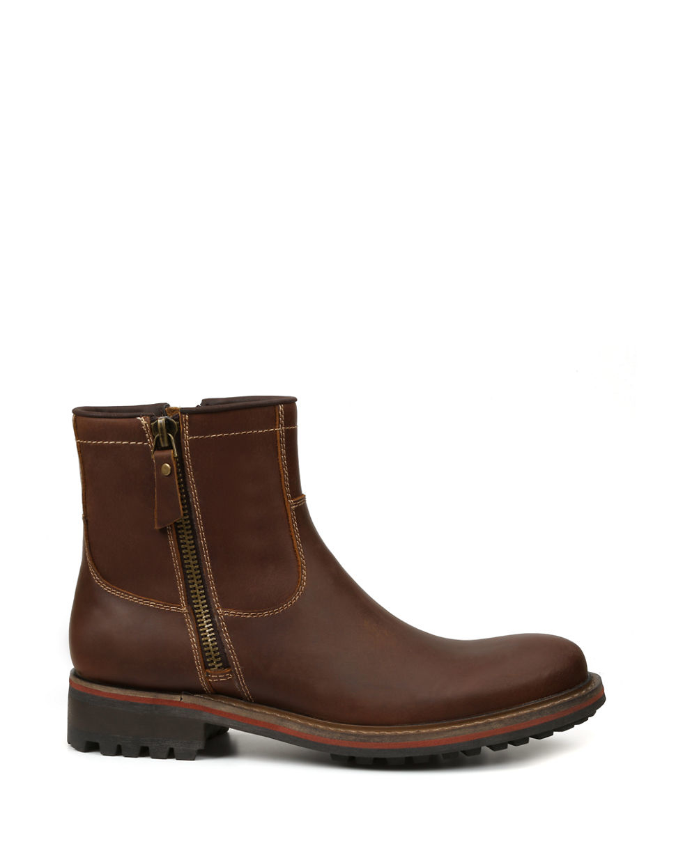 gbx geffin leather chelsea boots in brown for lyst